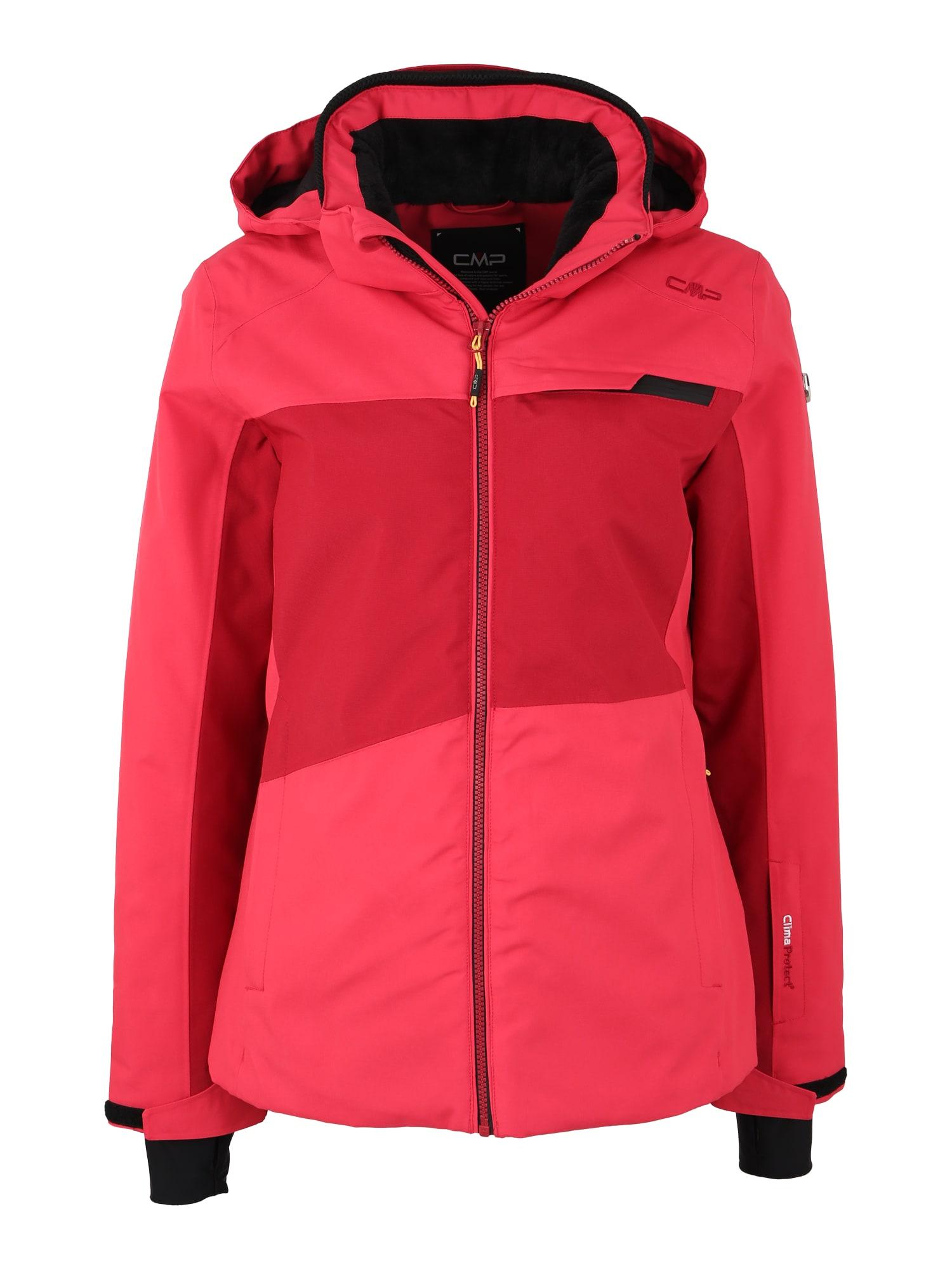 Outdoorová bunda červená melounová černá CMP