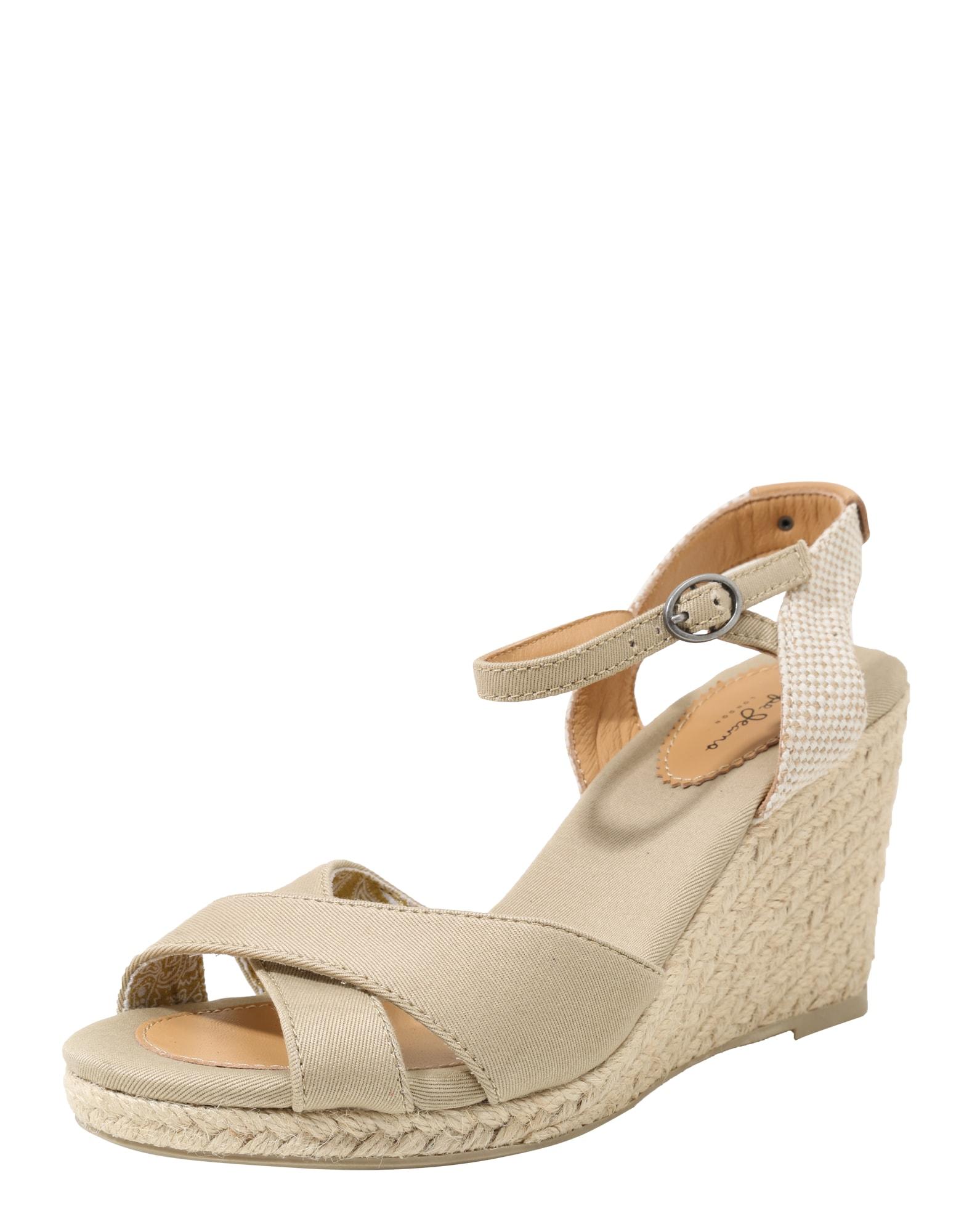Pepe Jeans Dames Sandalen met riem Shark beige