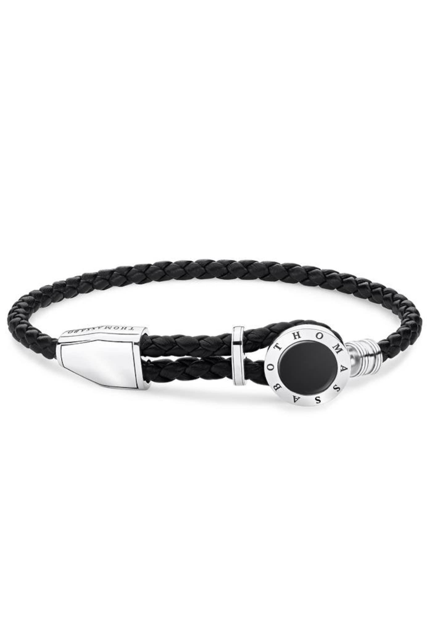 Armband 'Coin, A1864-982-11-L25v'   Schmuck > Armbänder > Sonstige Armbänder   Schwarz - Silber   Thomas Sabo