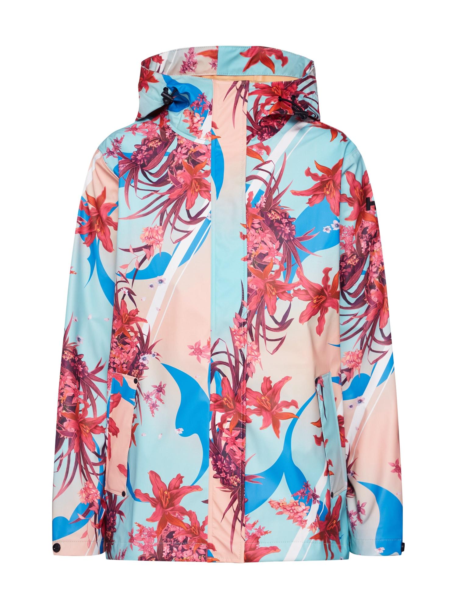 Přechodná bunda W MOSS modrá mix barev pink HELLY HANSEN