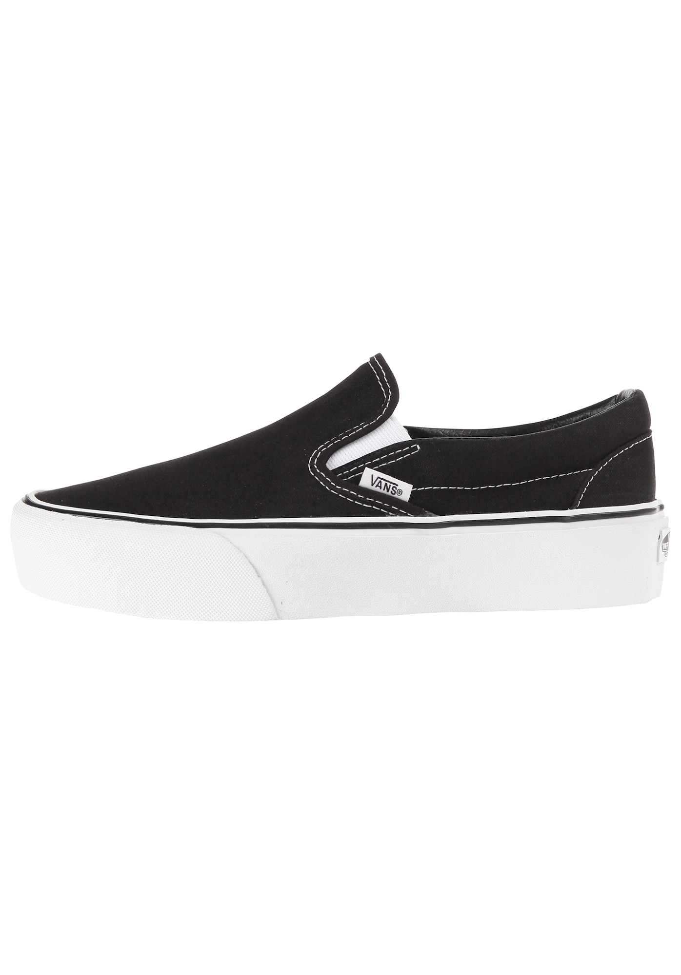 Slip on boty Classic Slip-On Platform černý melír bílá VANS