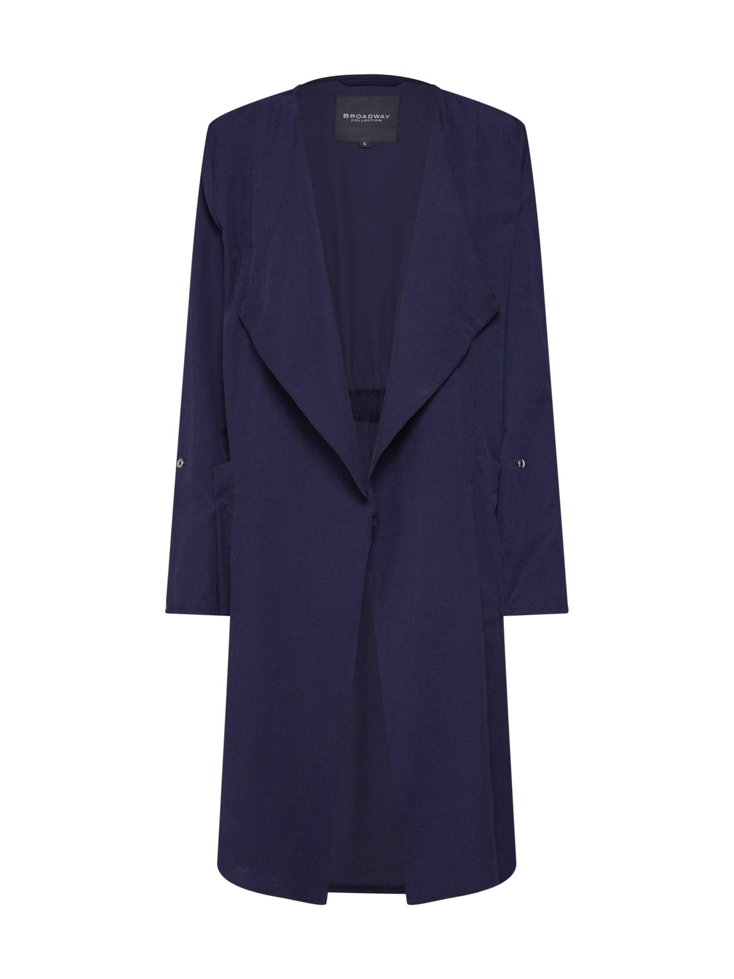 Přechodný kabát Cleora námořnická modř BROADWAY NYC FASHION