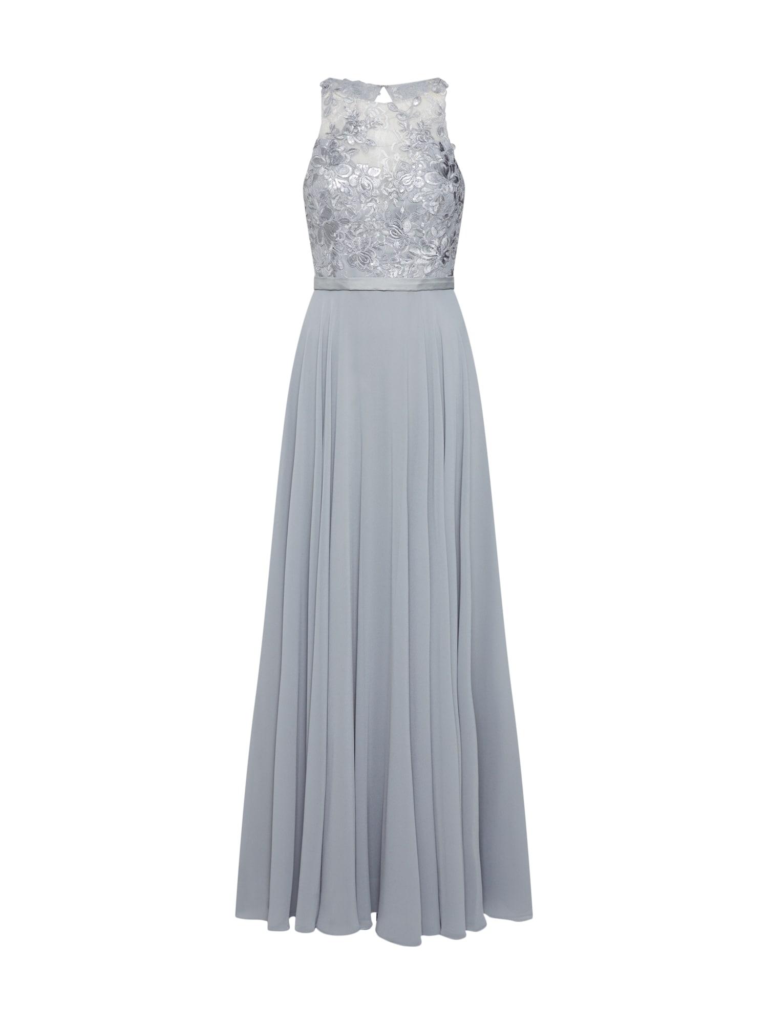 Společenské šaty stříbrně šedá MAGIC NIGHTS