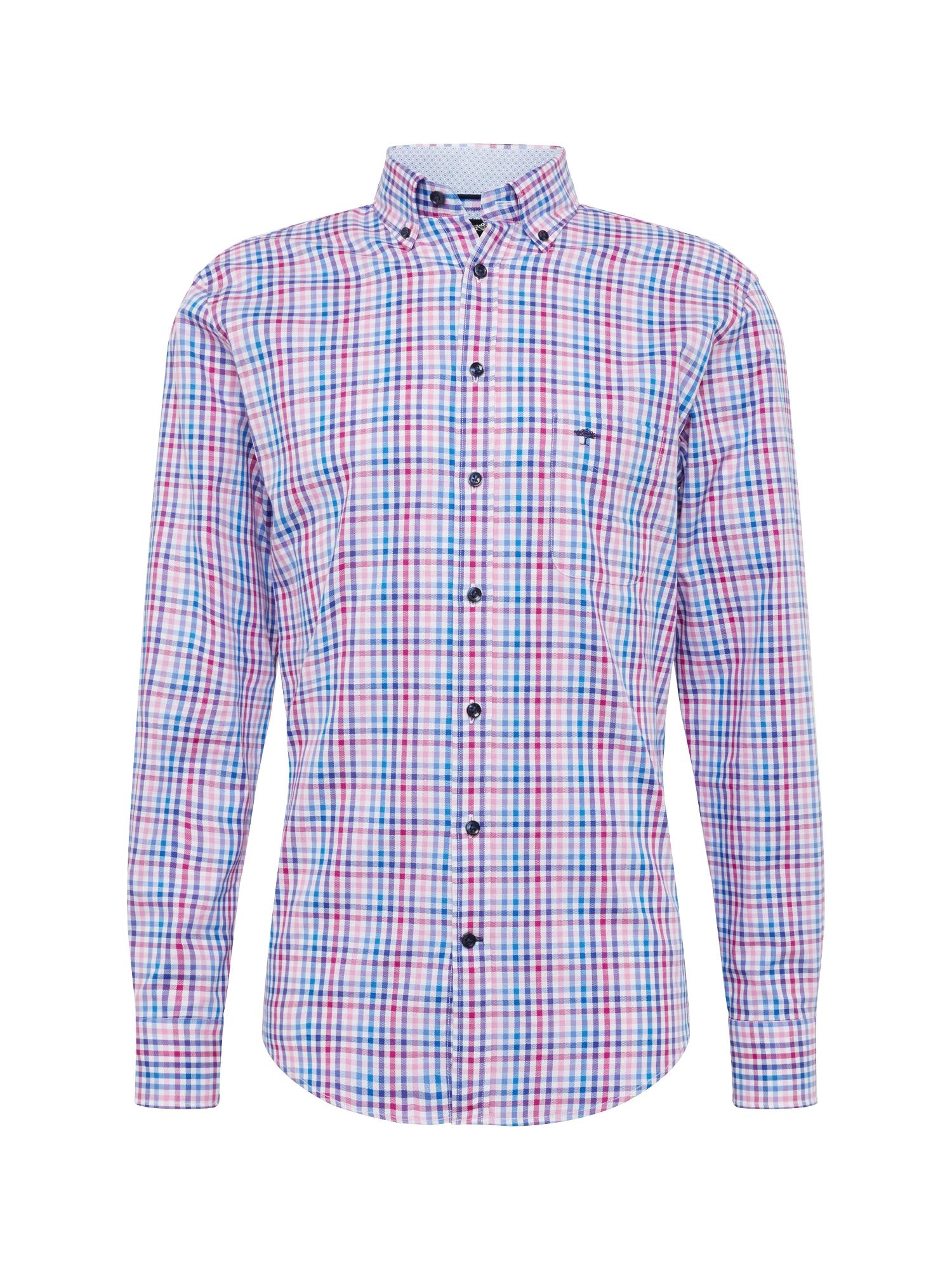 Košile sleeve casual fit modrá růžová FYNCH-HATTON