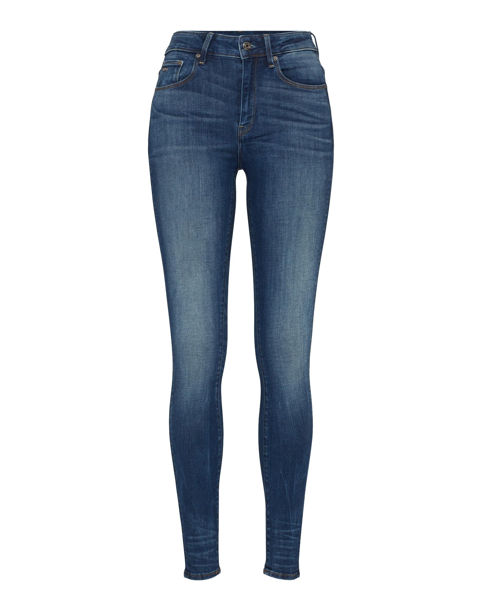G-STAR RAW Dames Jeans 3301 High Skinny blue denim
