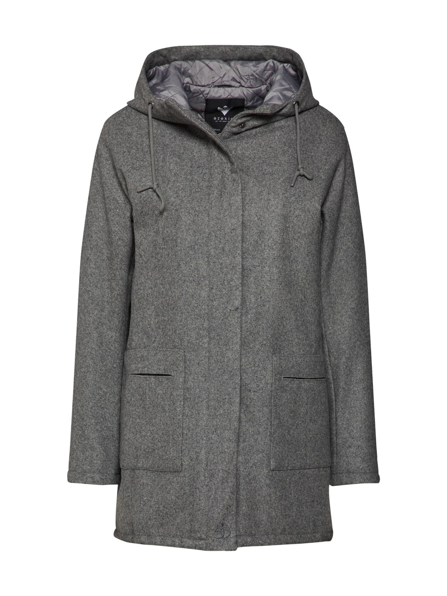 Zimní kabát Council šedý melír Ezekiel