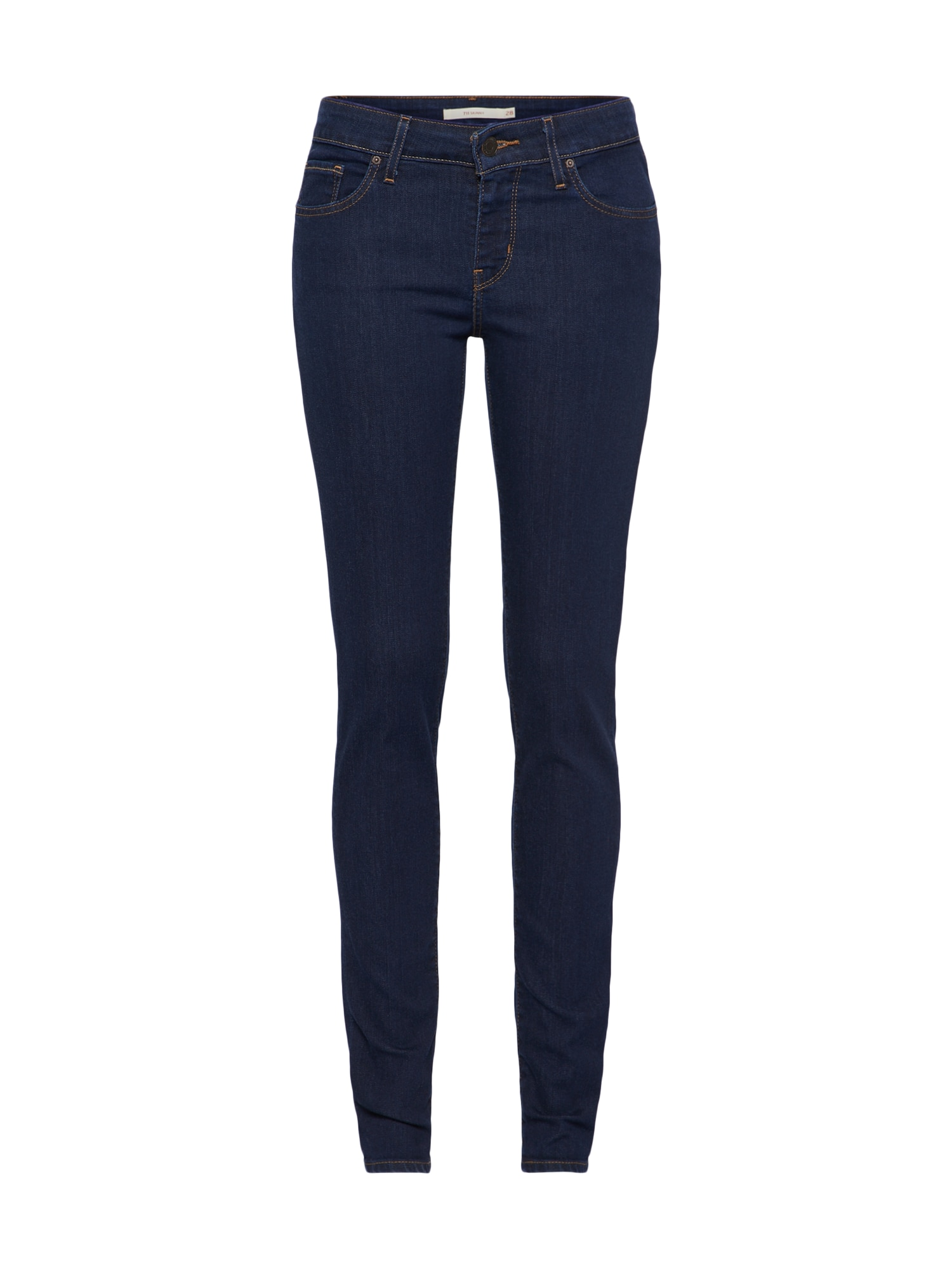 LEVI'S Dames Jeans 711 donkerblauw