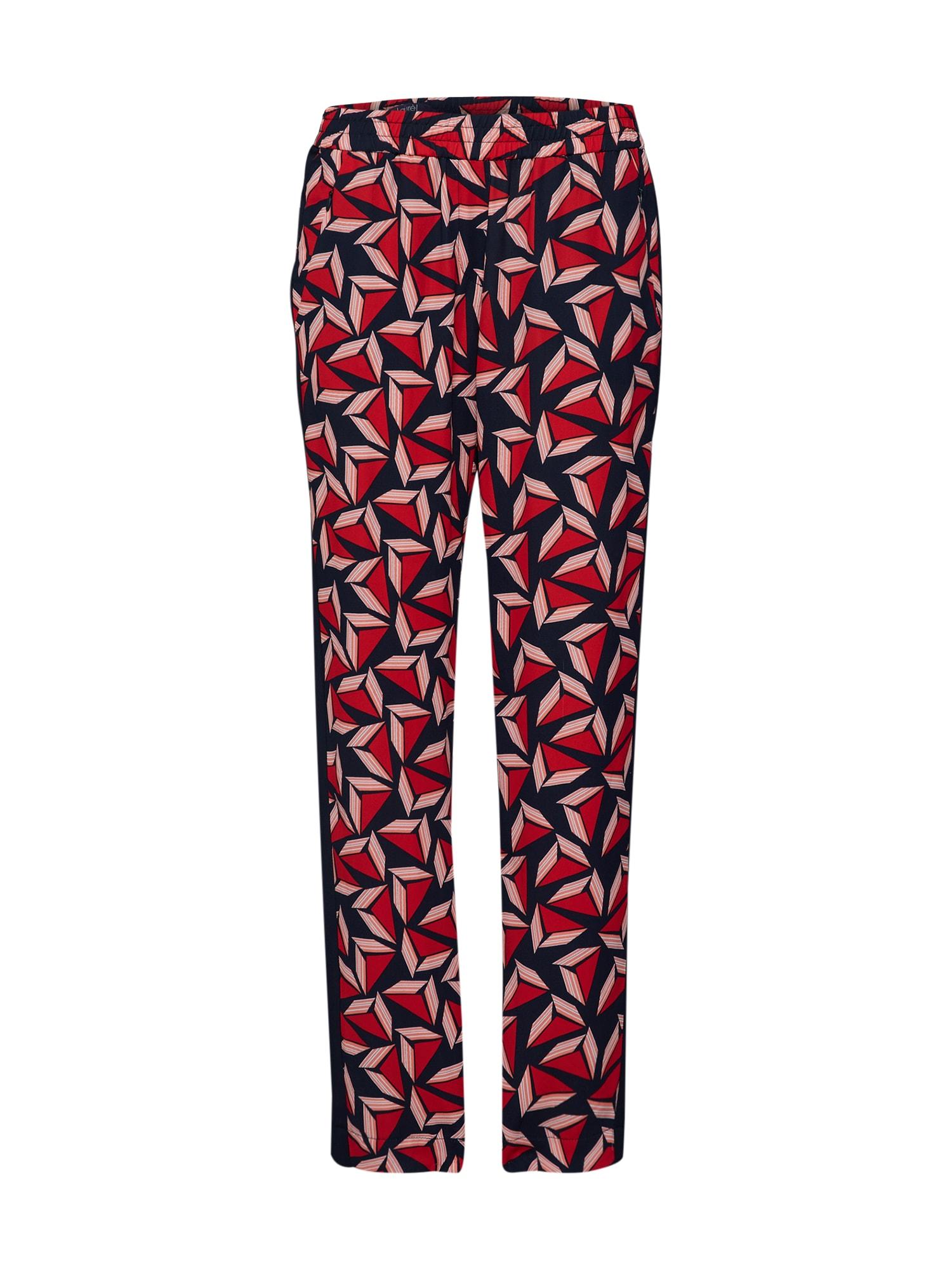 Kalhoty 81008 námořnická modř tmavě červená LAUREL