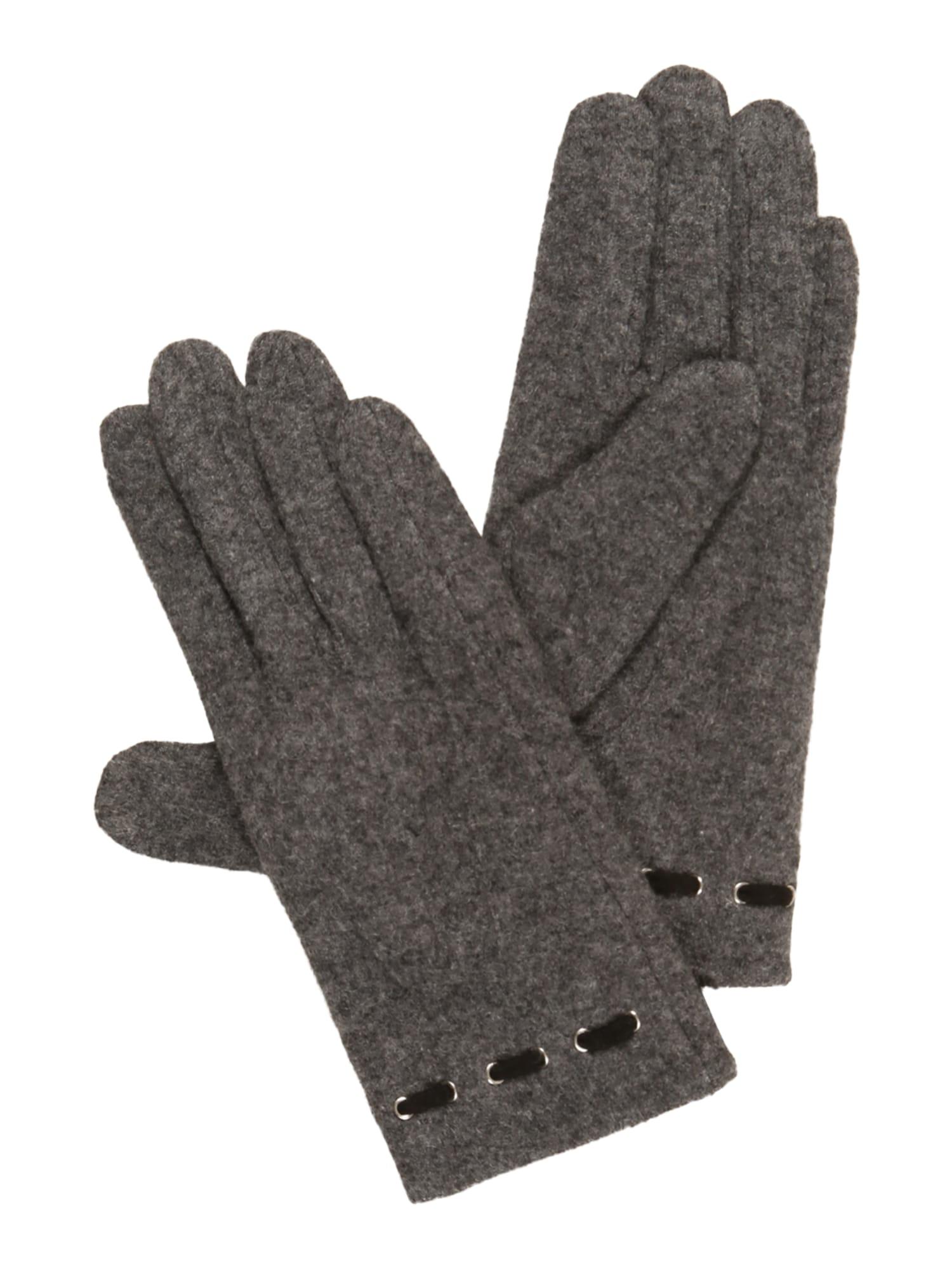 Prstové rukavice Therese šedý melír UNMADE Copenhagen