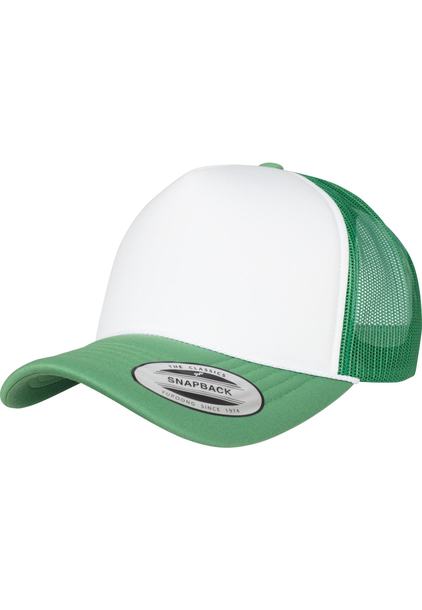 Cap 'Foam Trucker Curved Visor' | Accessoires > Caps > Visors | Grün - Weiß | Flexfit