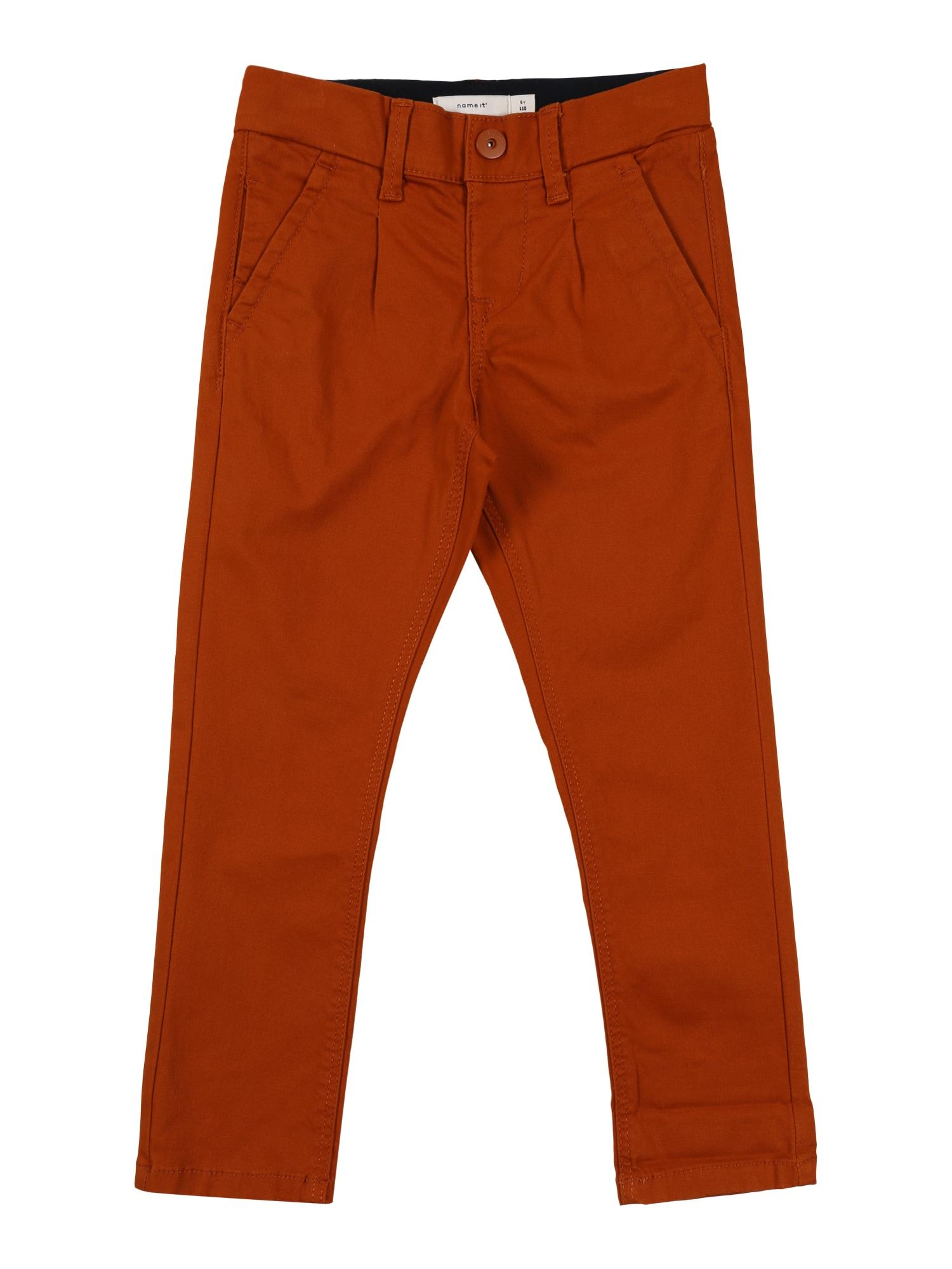 NAME IT Kalhoty  kaštanově hnědá
