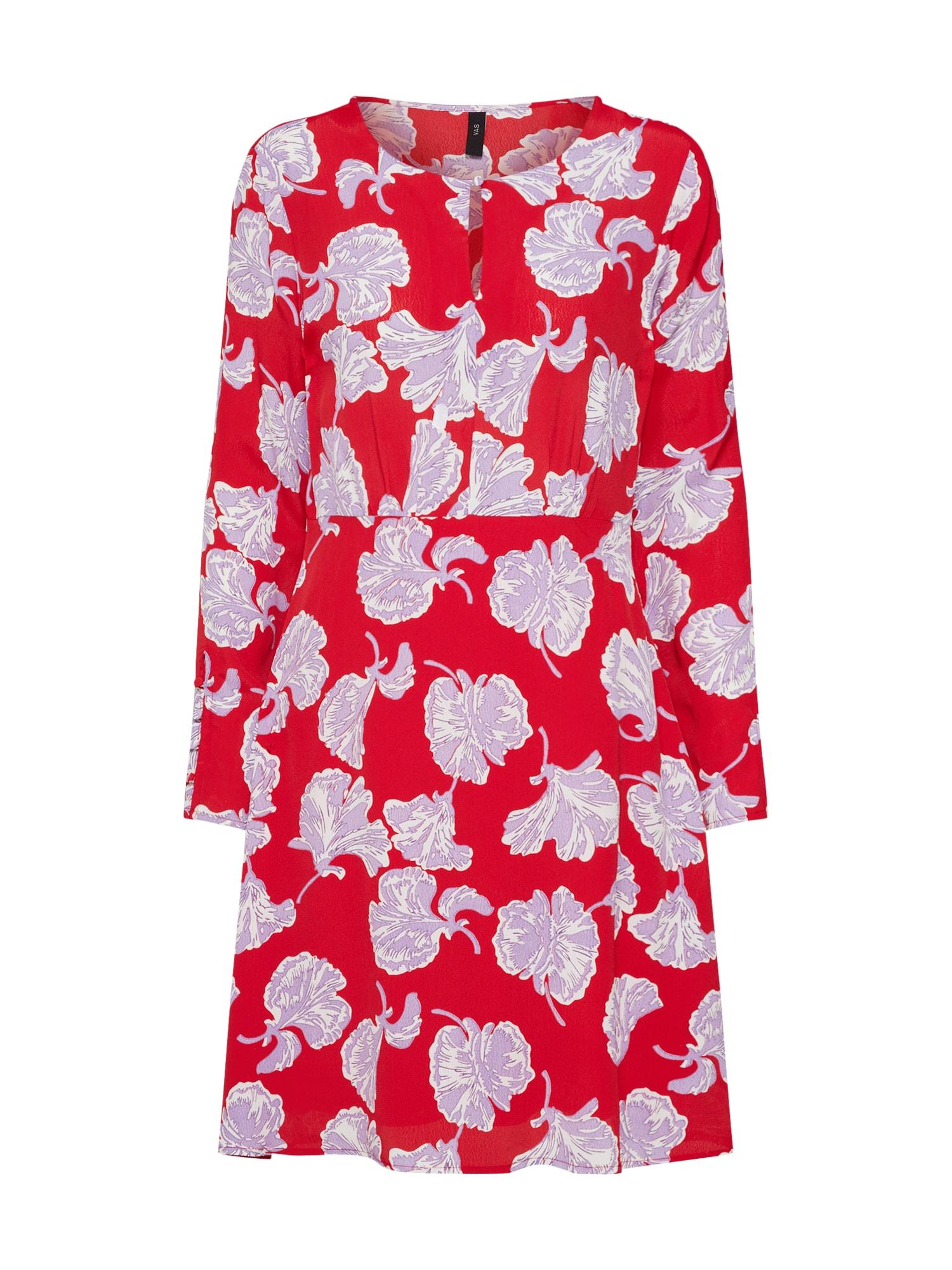 Letní šaty Сinco šeříková ohnivá červená bílá Y.A.S