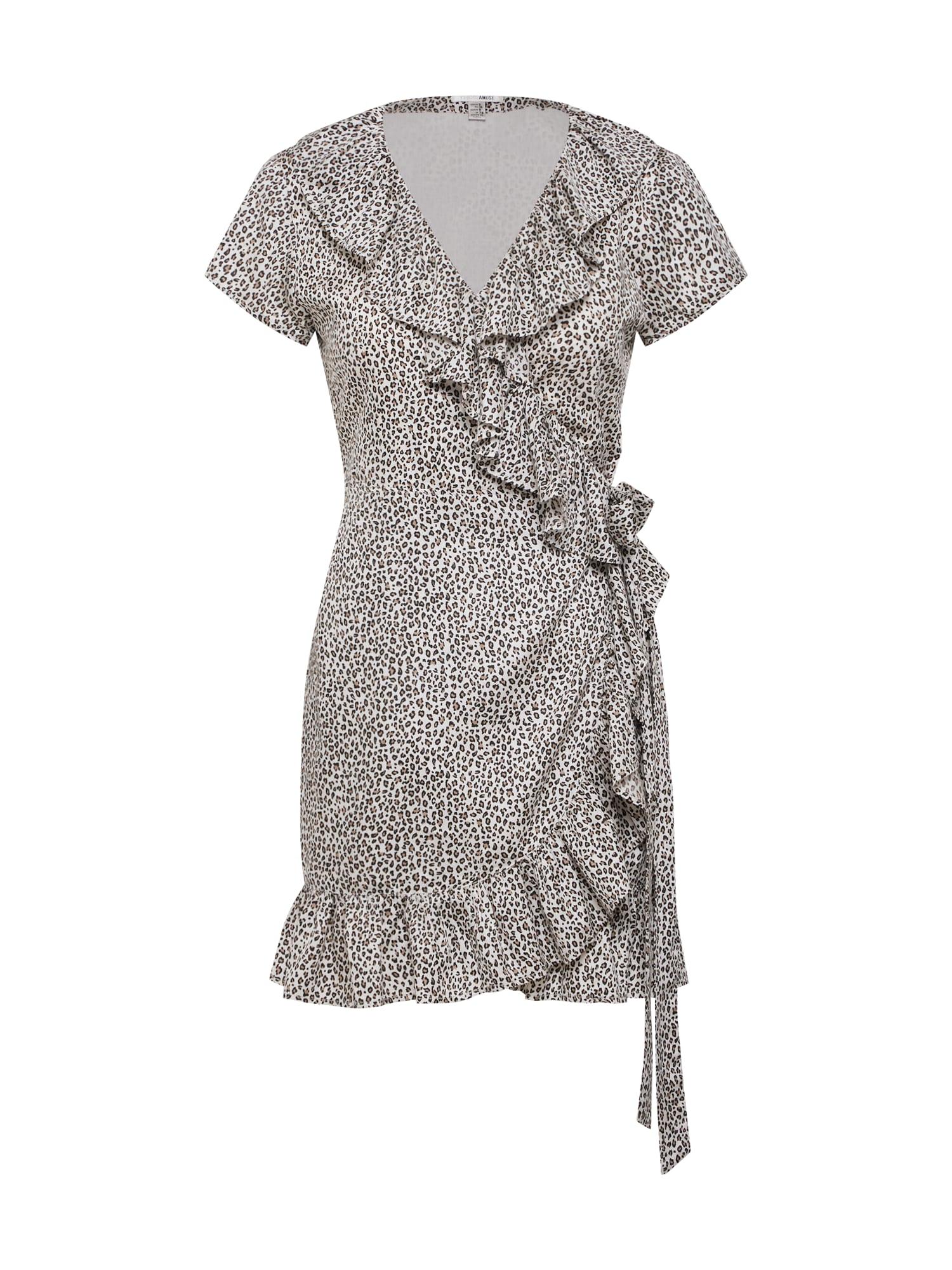 Šaty tmavě béžová šedá Amuse Society