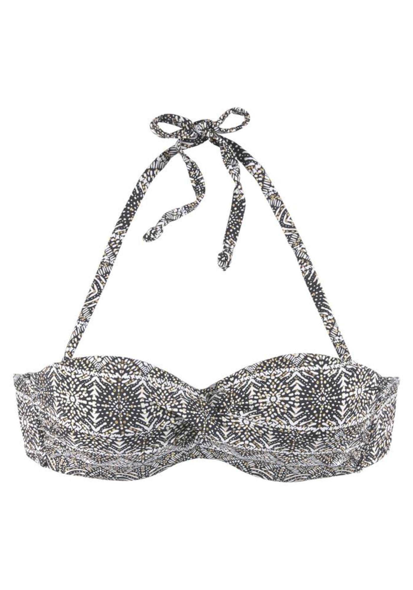 LASCANA, Dames Bikinitop, goud / zwart / wit