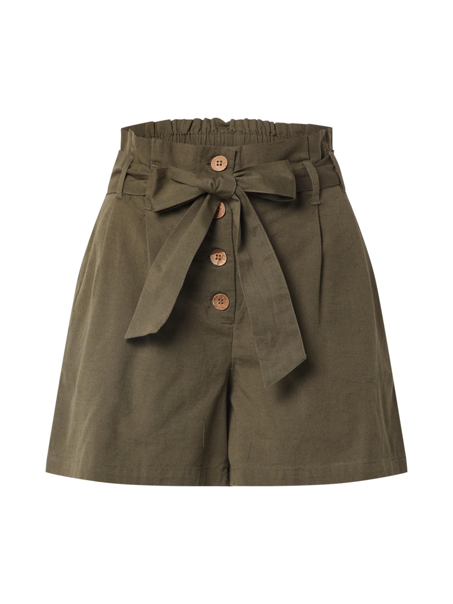 Noisy May Kalhoty se sklady v pase 'HIRAM'  olivová
