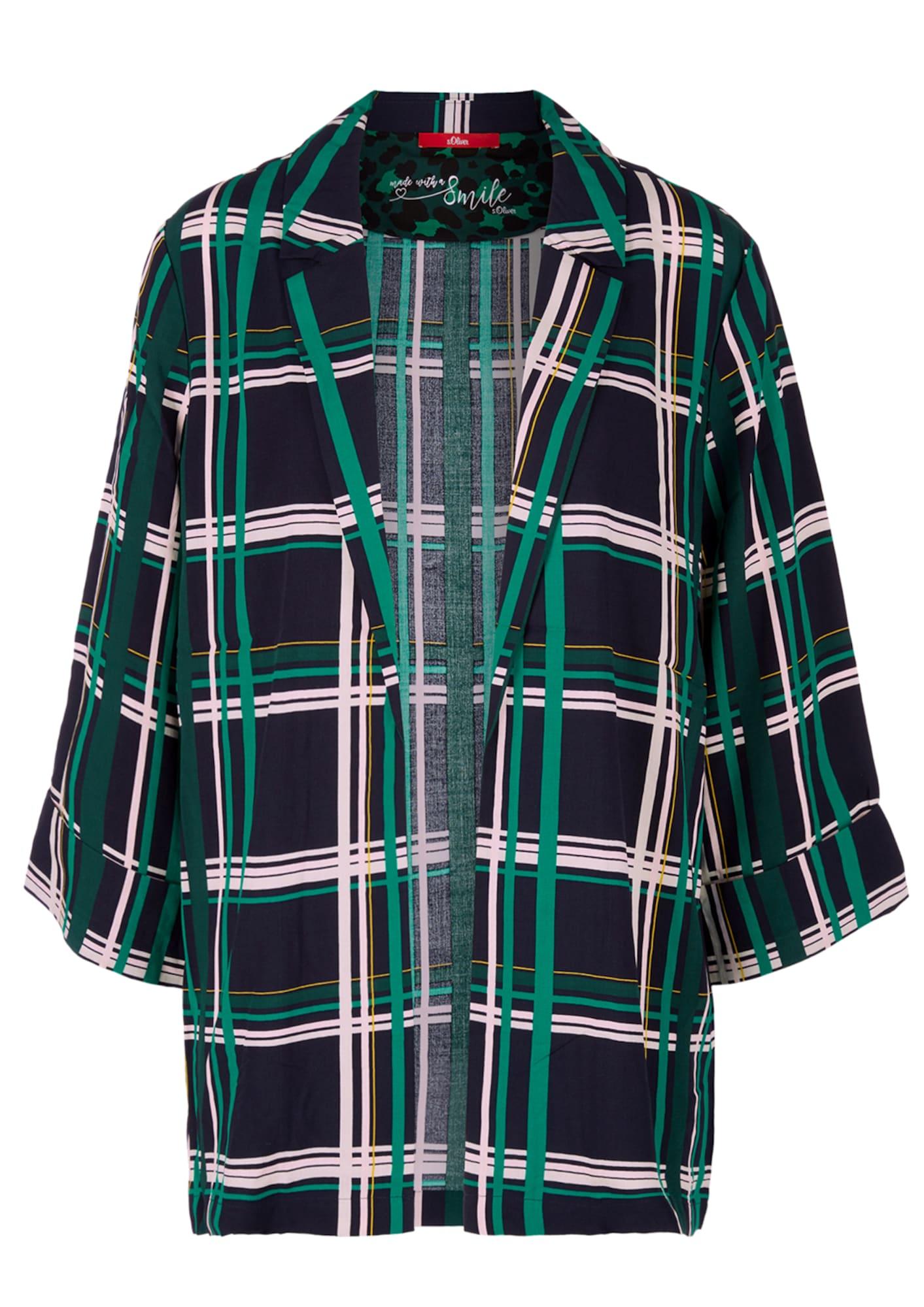 Oversized Blusen-Blazer mit Karos | Bekleidung > Blazer > Blusenblazer | S.Oliver