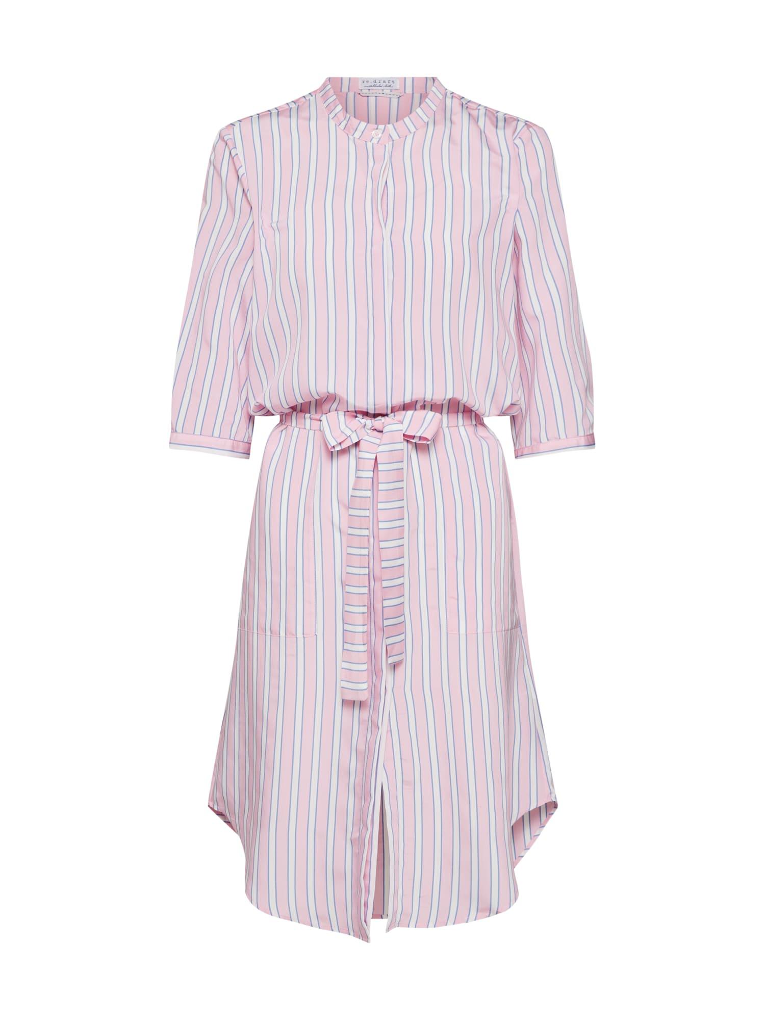 Košilové šaty pink růžová Re.draft