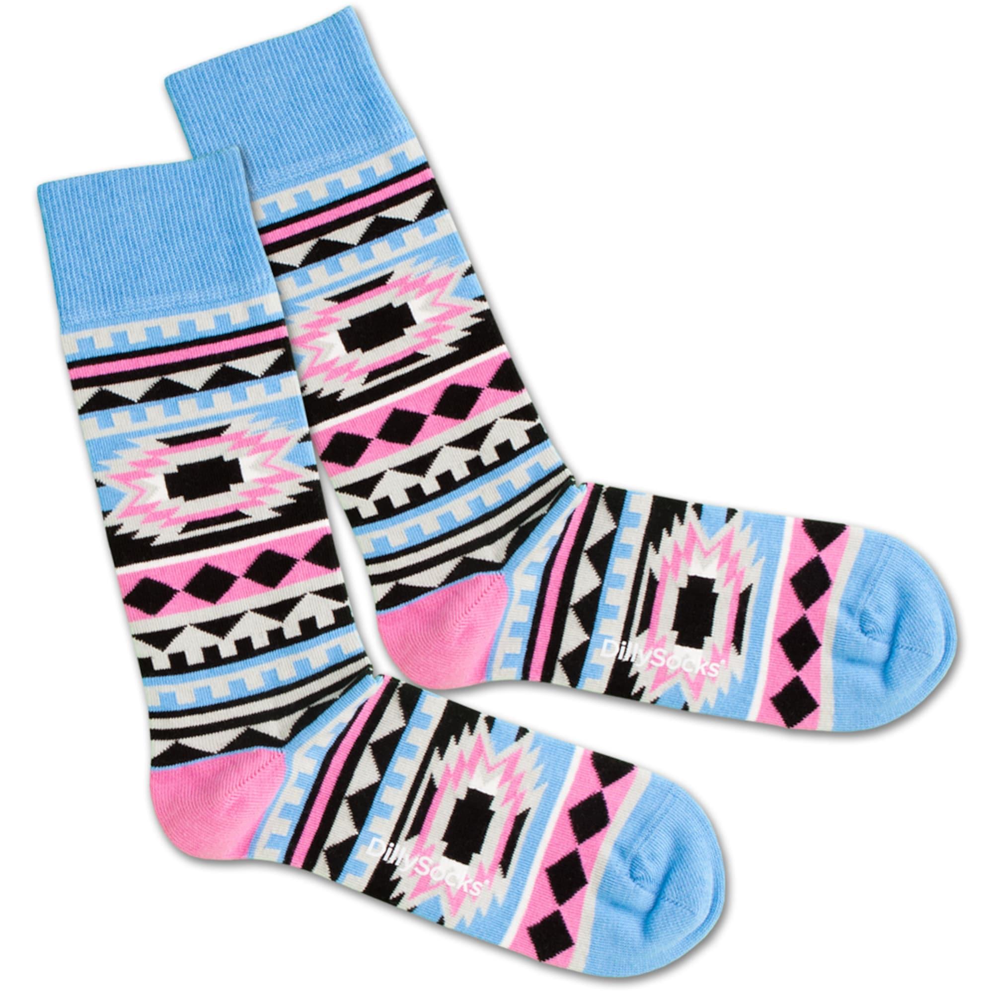 Ponožky Native Princess modrá pink DillySocks