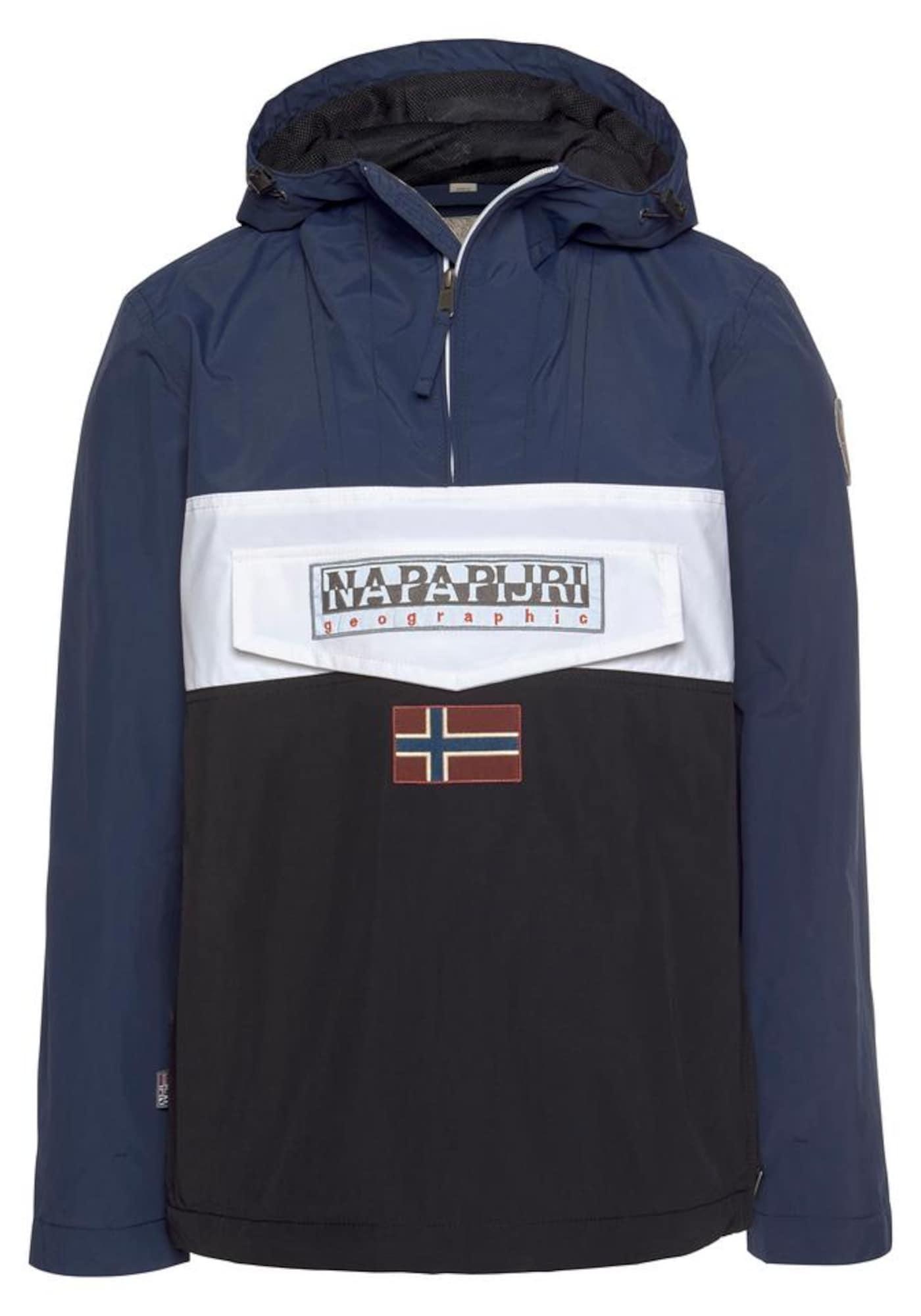 NAPAPIJRI Přechodná bunda 'Rainforest'  černá / námořnická modř / bílá