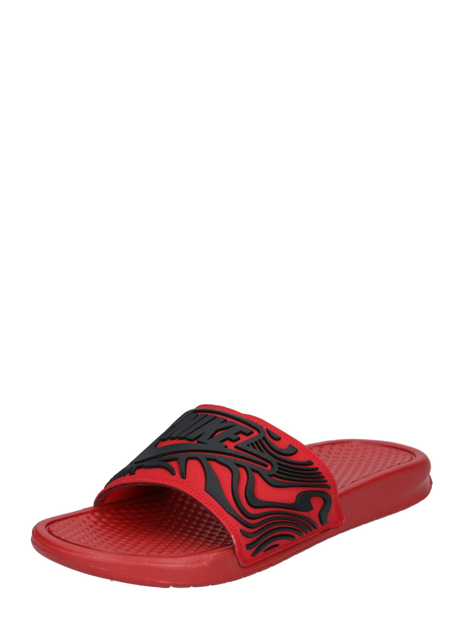 Nike Sportswear, Heren Strand-/badschoen 'BENASSI JDI SE', rood / zwart