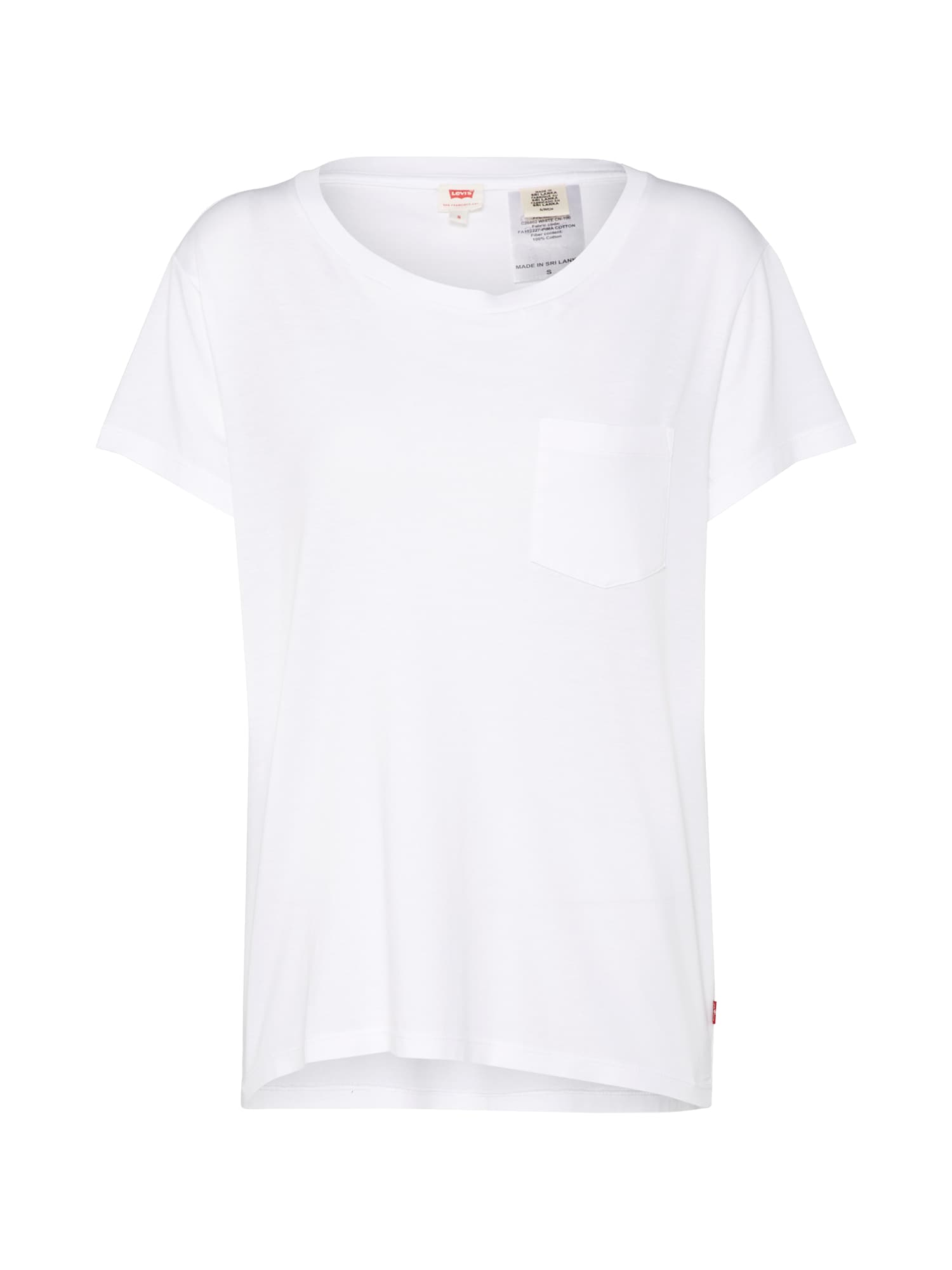 LEVI'S Dames Shirt The perfect pocket tee wit