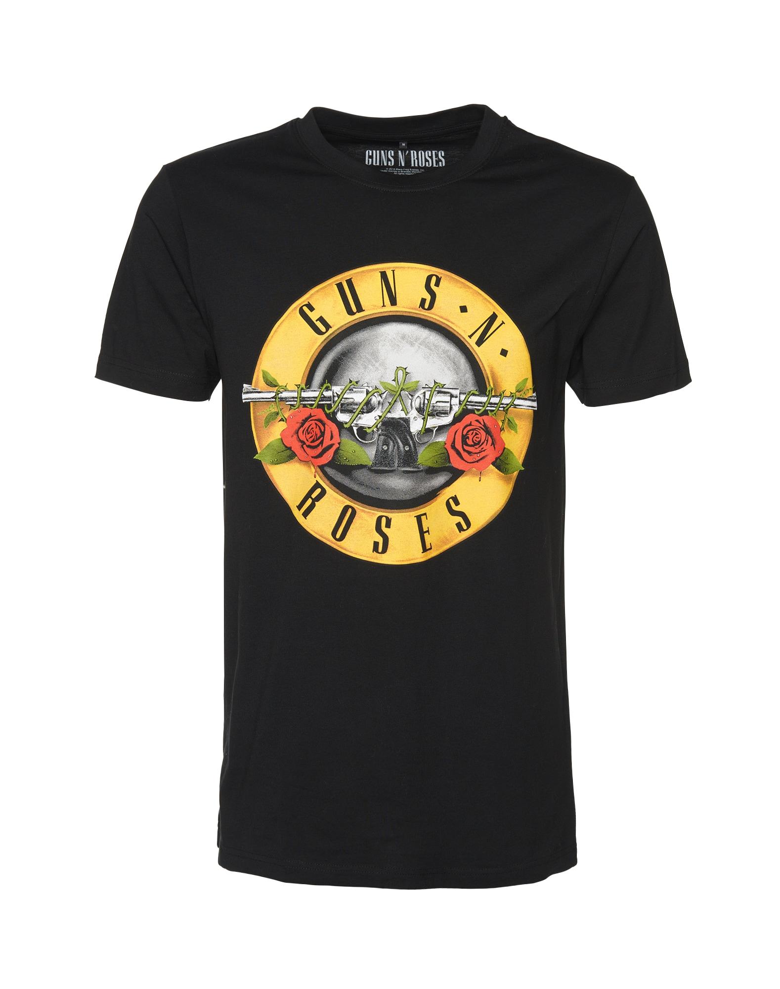 Tričko Guns n' Roses žlutá černá Mister Tee