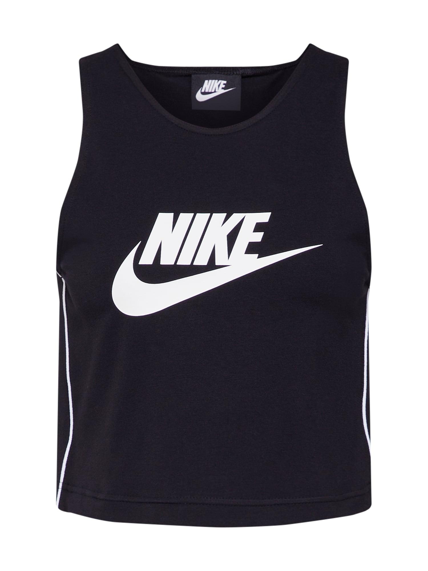 Top černá bílá Nike Sportswear