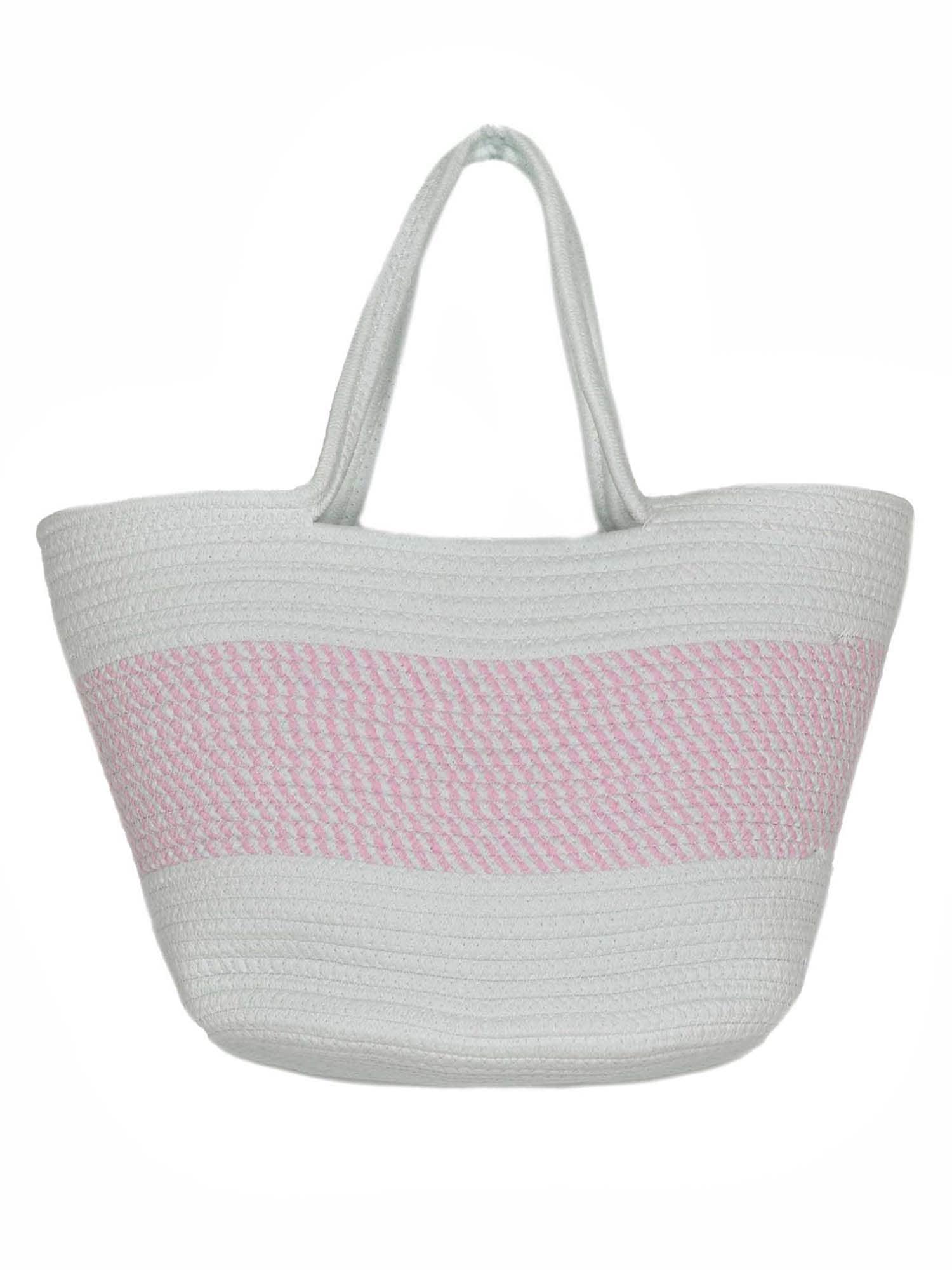 Plážová taška Ostsee růžová bílá Zwillingsherz