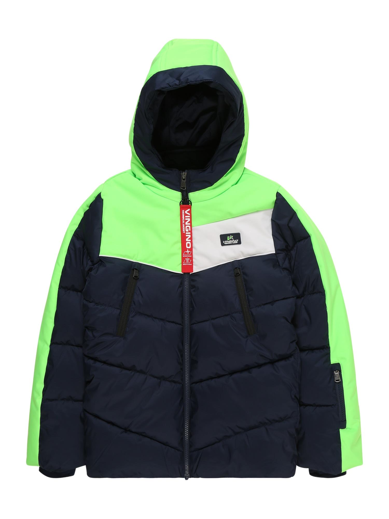 Přechodná bunda Tanvik tmavě modrá svítivě zelená VINGINO