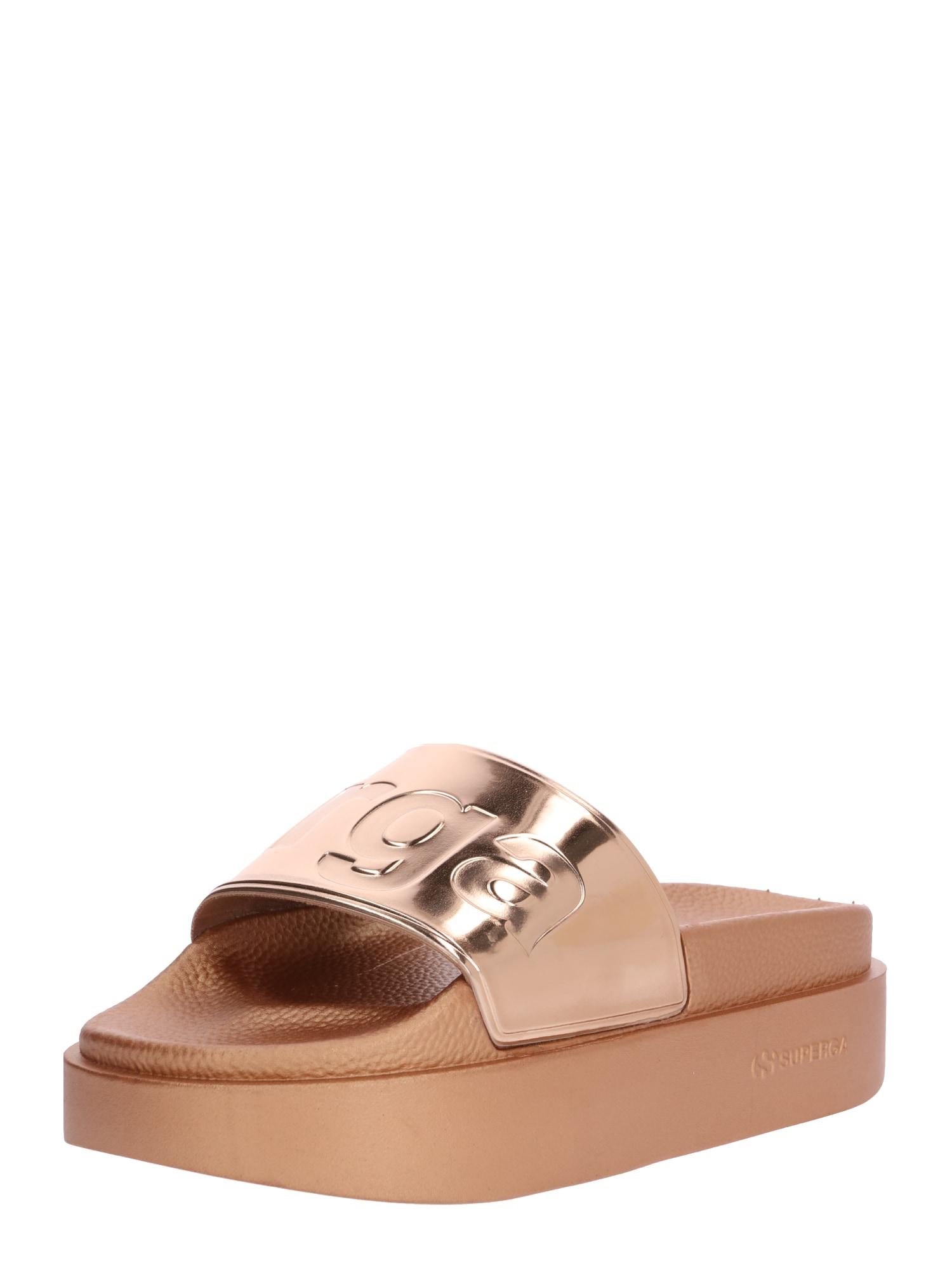 Pantofle 1919 zlatá růžově zlatá SUPERGA