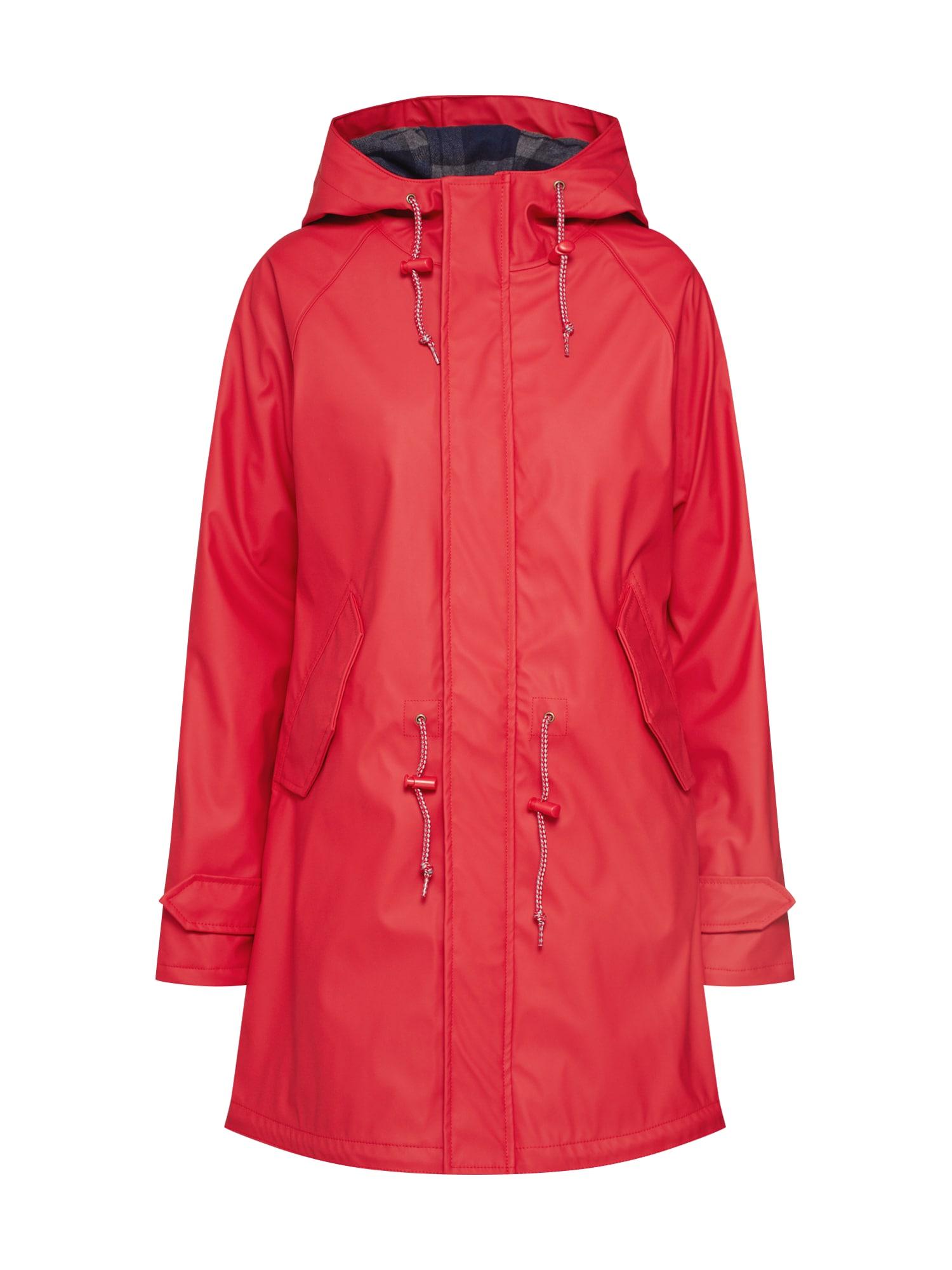 Derbe Přechodný kabát 'Travel Friese Check Girls'  červená
