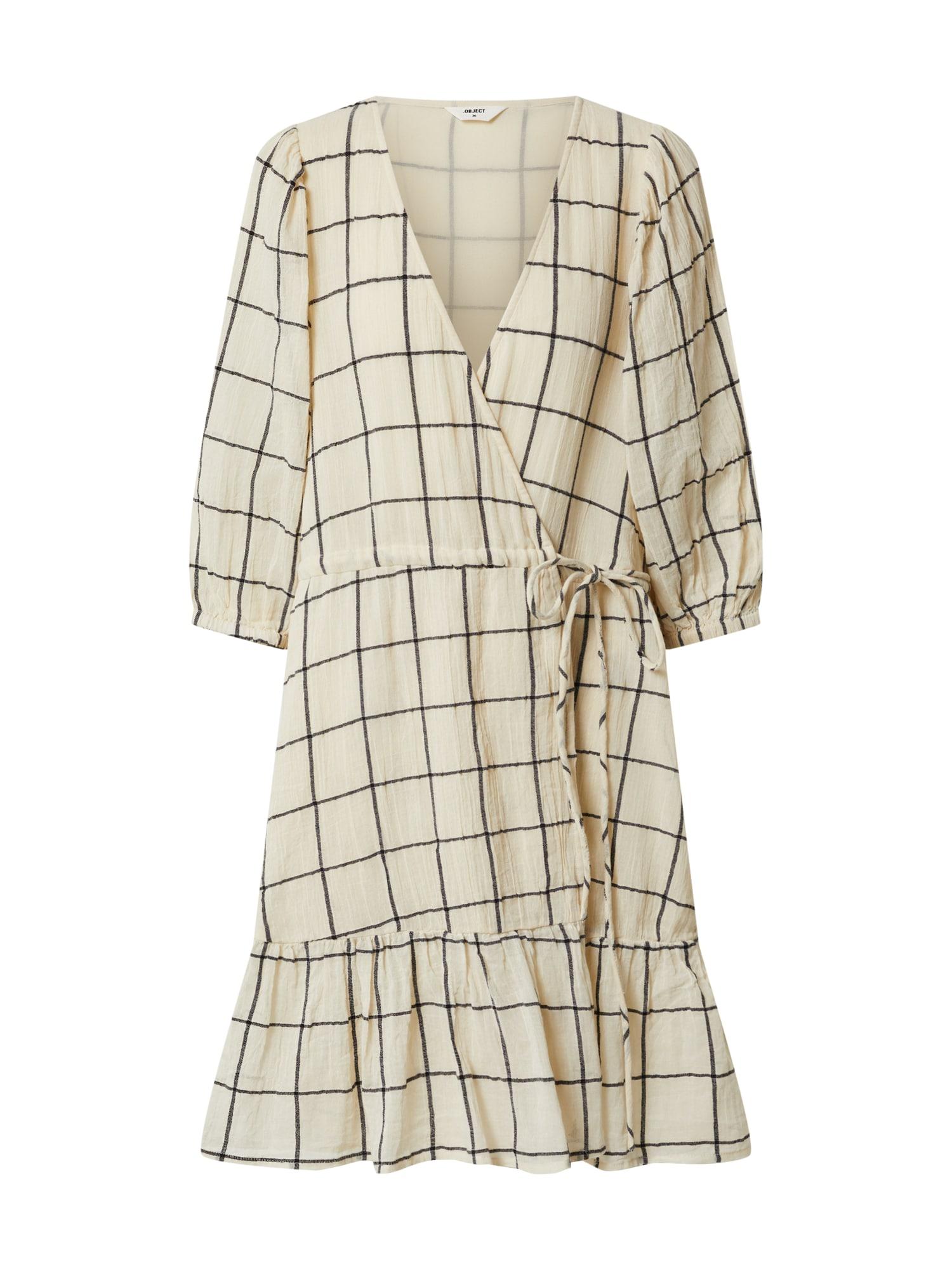 OBJECT Letní šaty 'DANJA'  černá / bílá