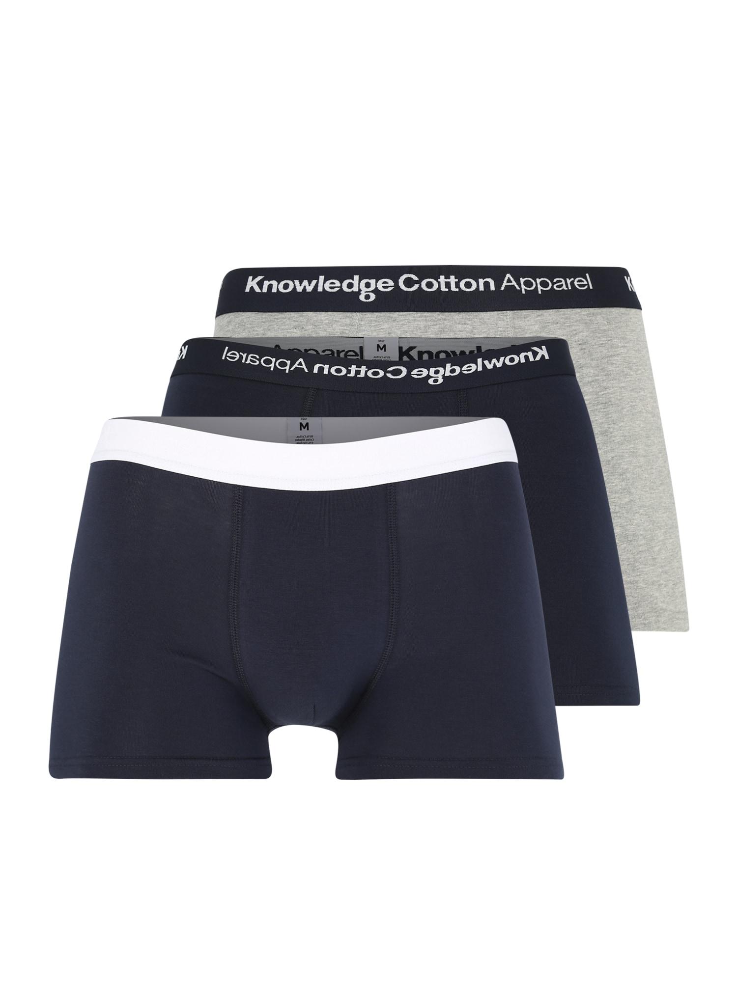 Boxerky námořnická modř šedá KnowledgeCotton Apparel