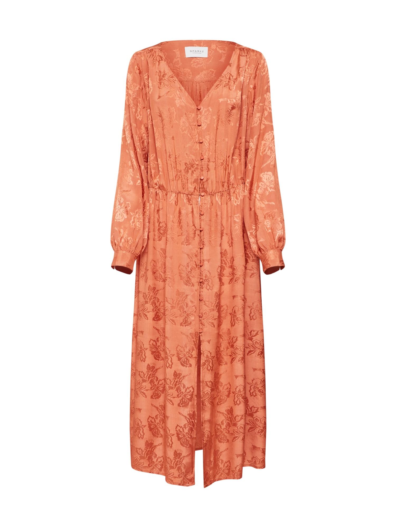 Letní šaty Tia Long Dress oranžová Sparkz