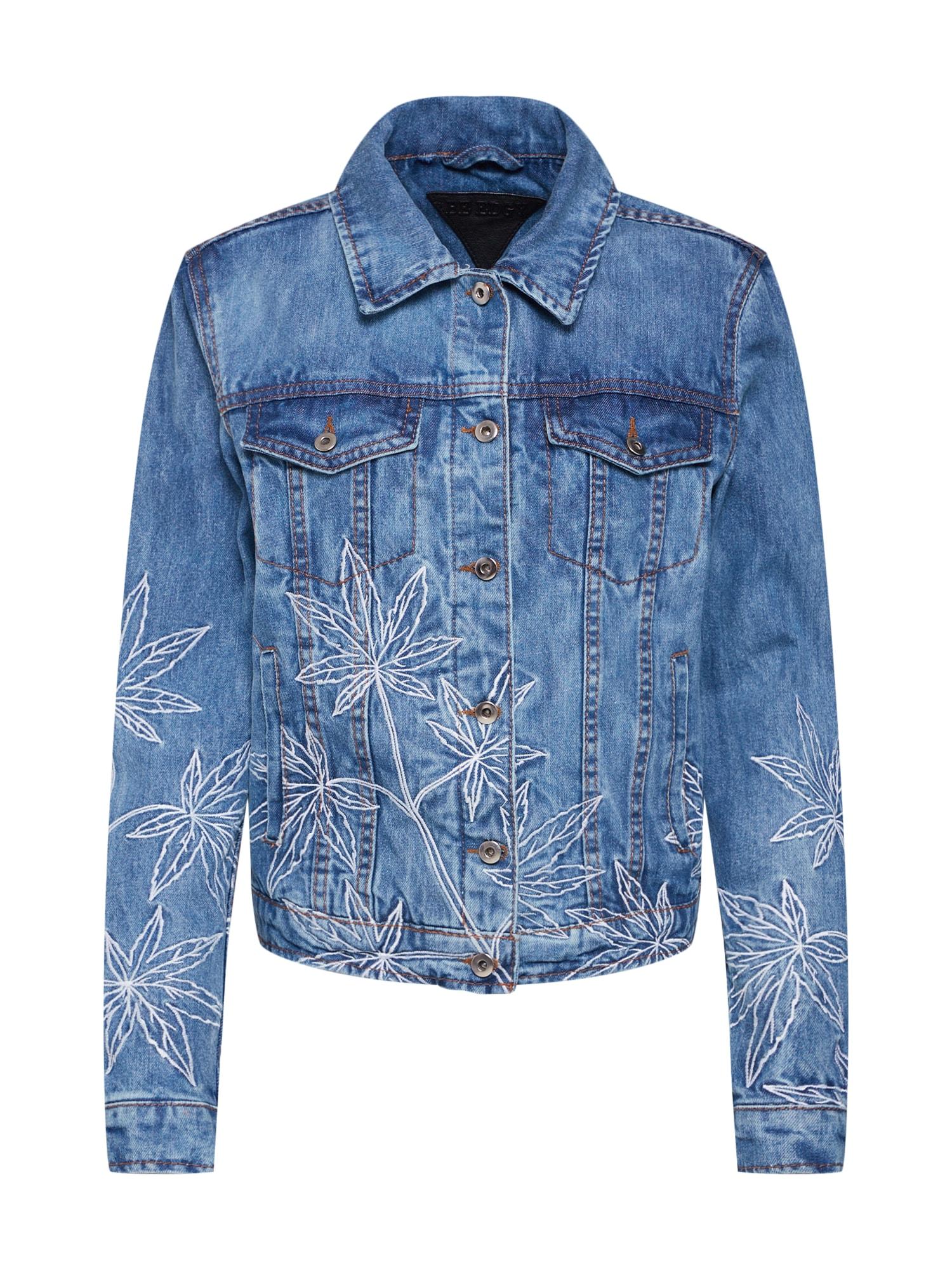 Přechodná bunda Bekathy D modrá džínovina BE EDGY