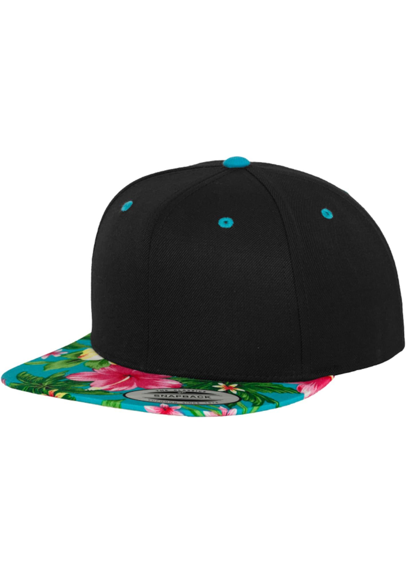 Cap 'Hawaiian' | Accessoires > Caps > Sonstige Caps | Aqua - Schwarz | Flexfit