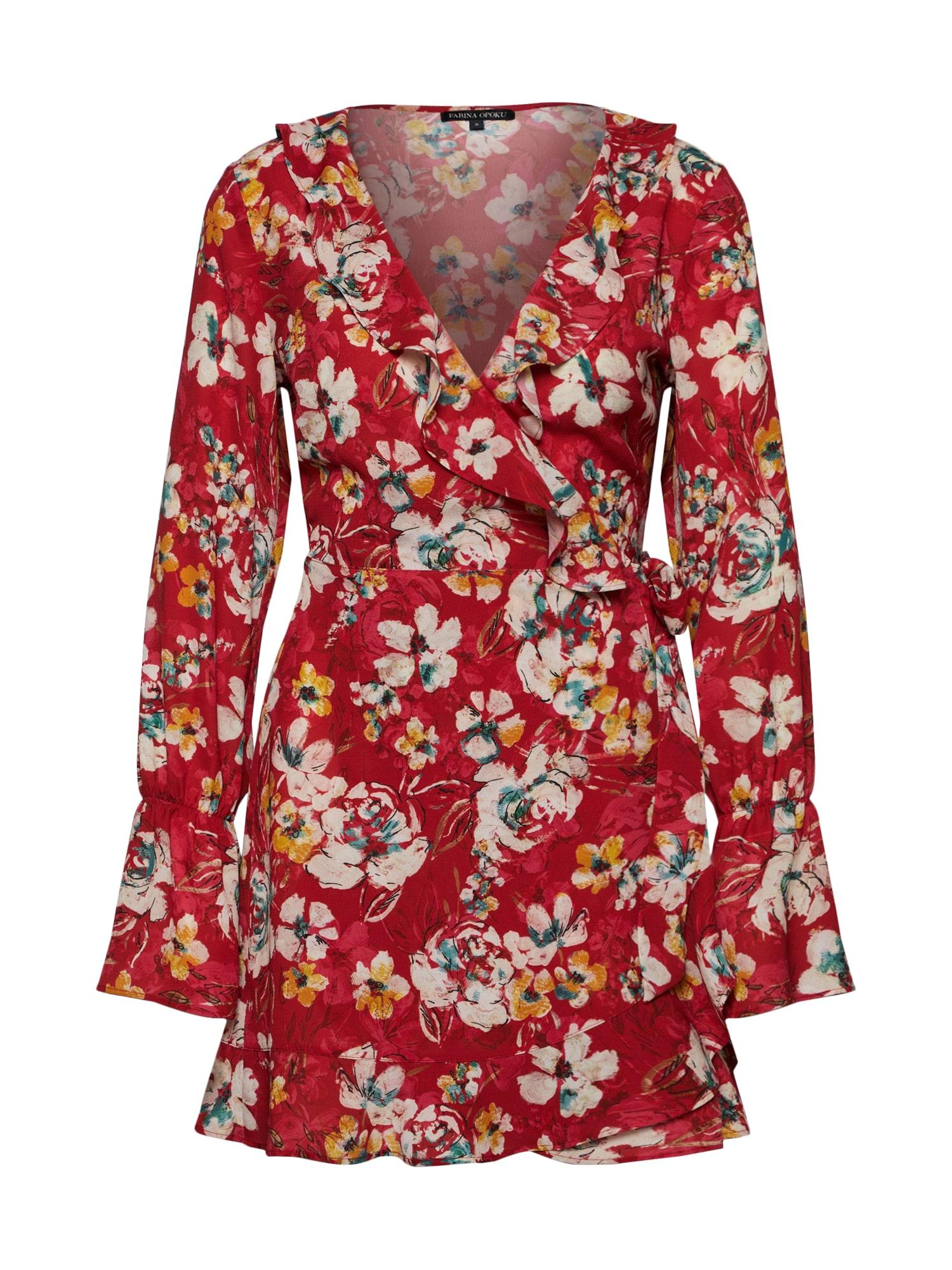 Šaty SINAKA mix barev červená Farina Opoku