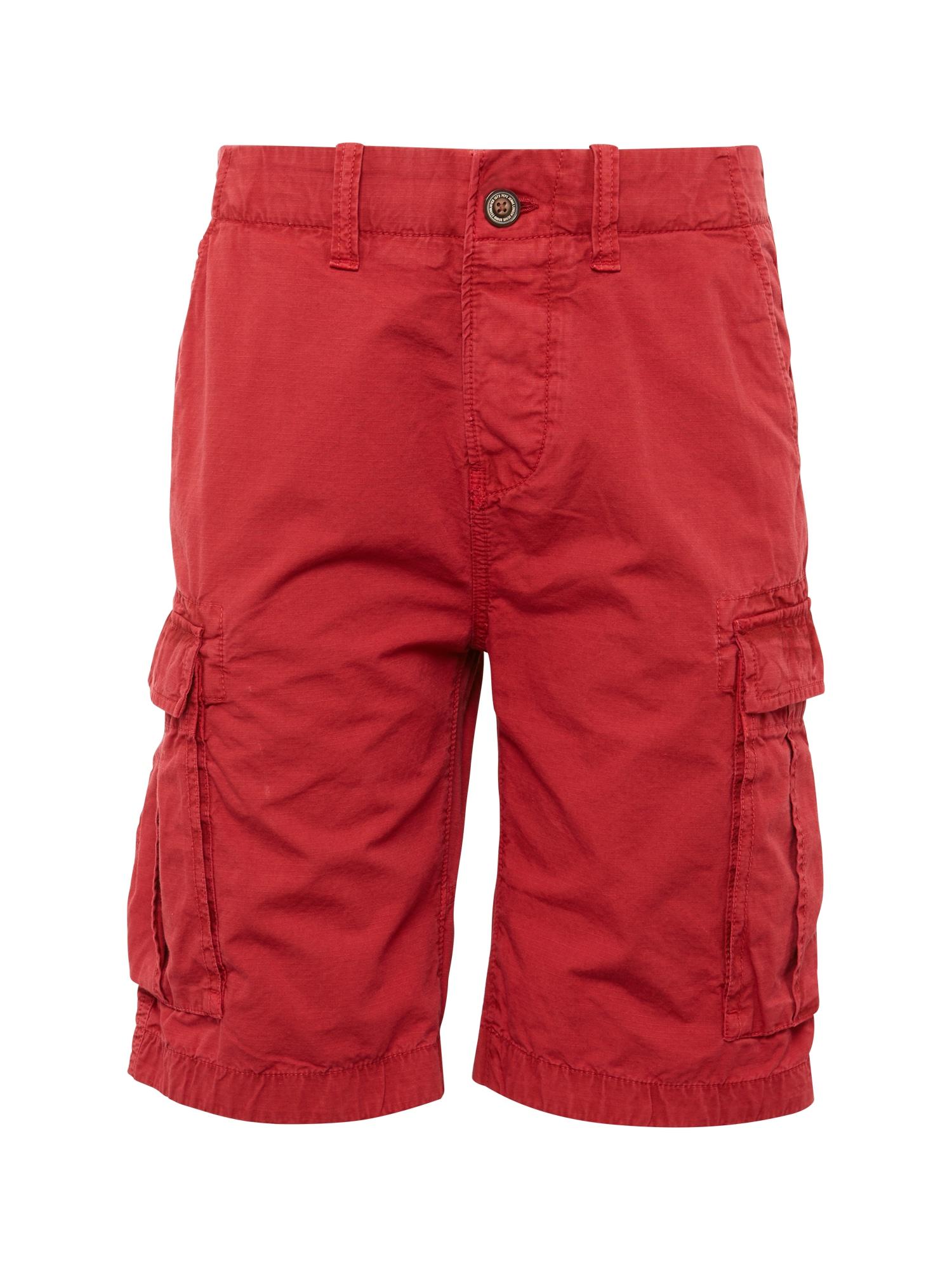 Pepe Jeans Heren Cargobroek JOURNEY RIBSTOP SHORT rood