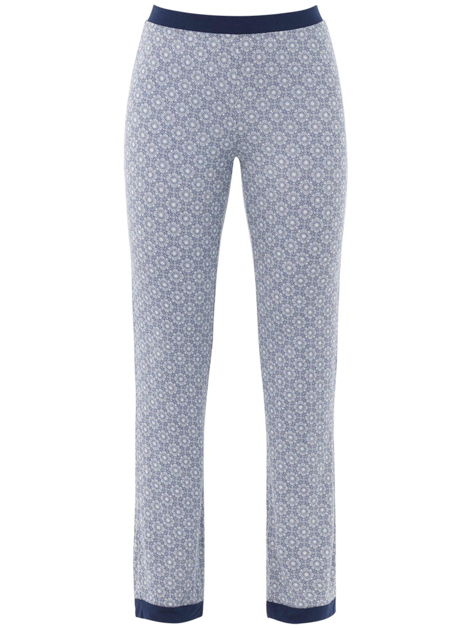 Pyžamové kalhoty Moroccan Nights tmavě modrá bílá PALMERS