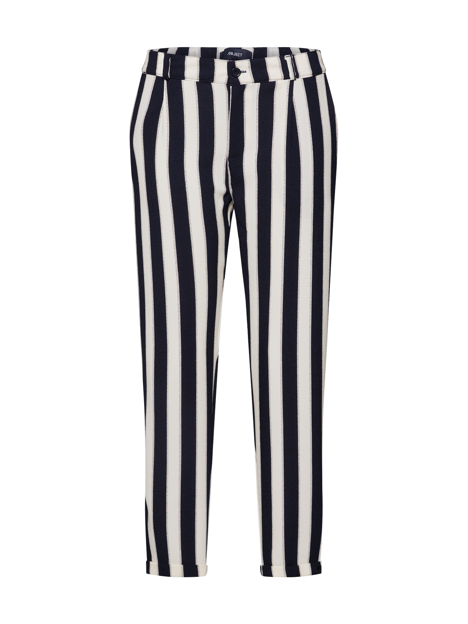 OBJECT Kalhoty 'Sanne Mw'  černá / bílá