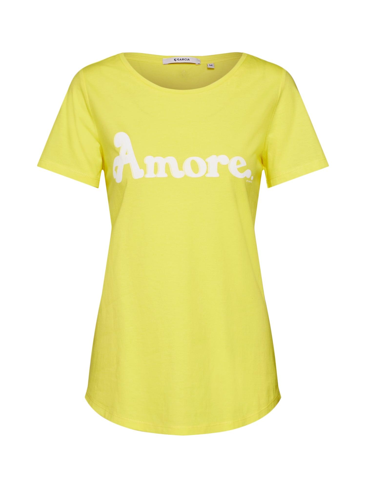 Tričko žlutá bílá GARCIA