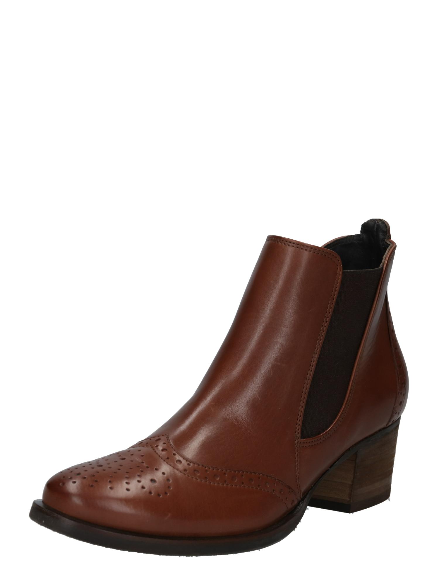 Chelsea boty čokoládová černá Paul Green