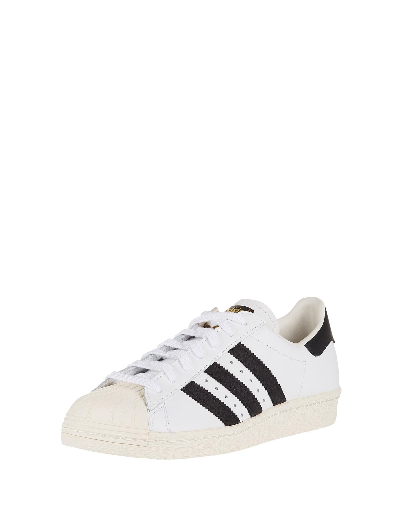 ADIDAS ORIGINALS, Heren Sneakers laag 'SUPERSTAR 80s', zwart / wit