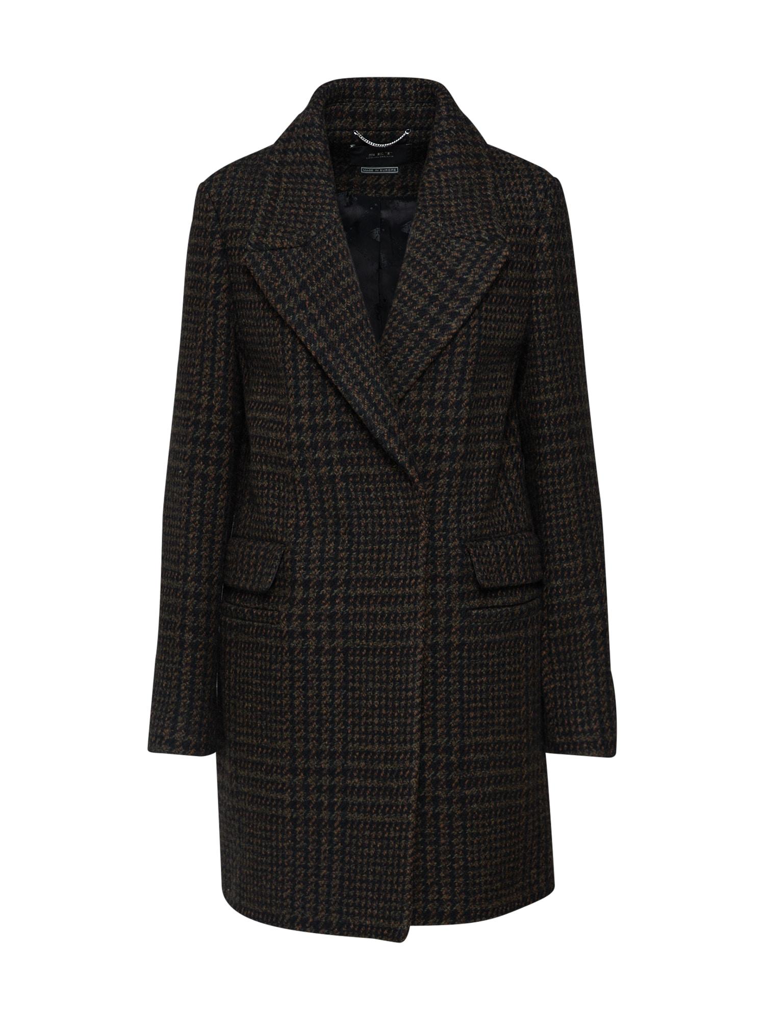 Přechodný kabát Mantel hnědá černá SET