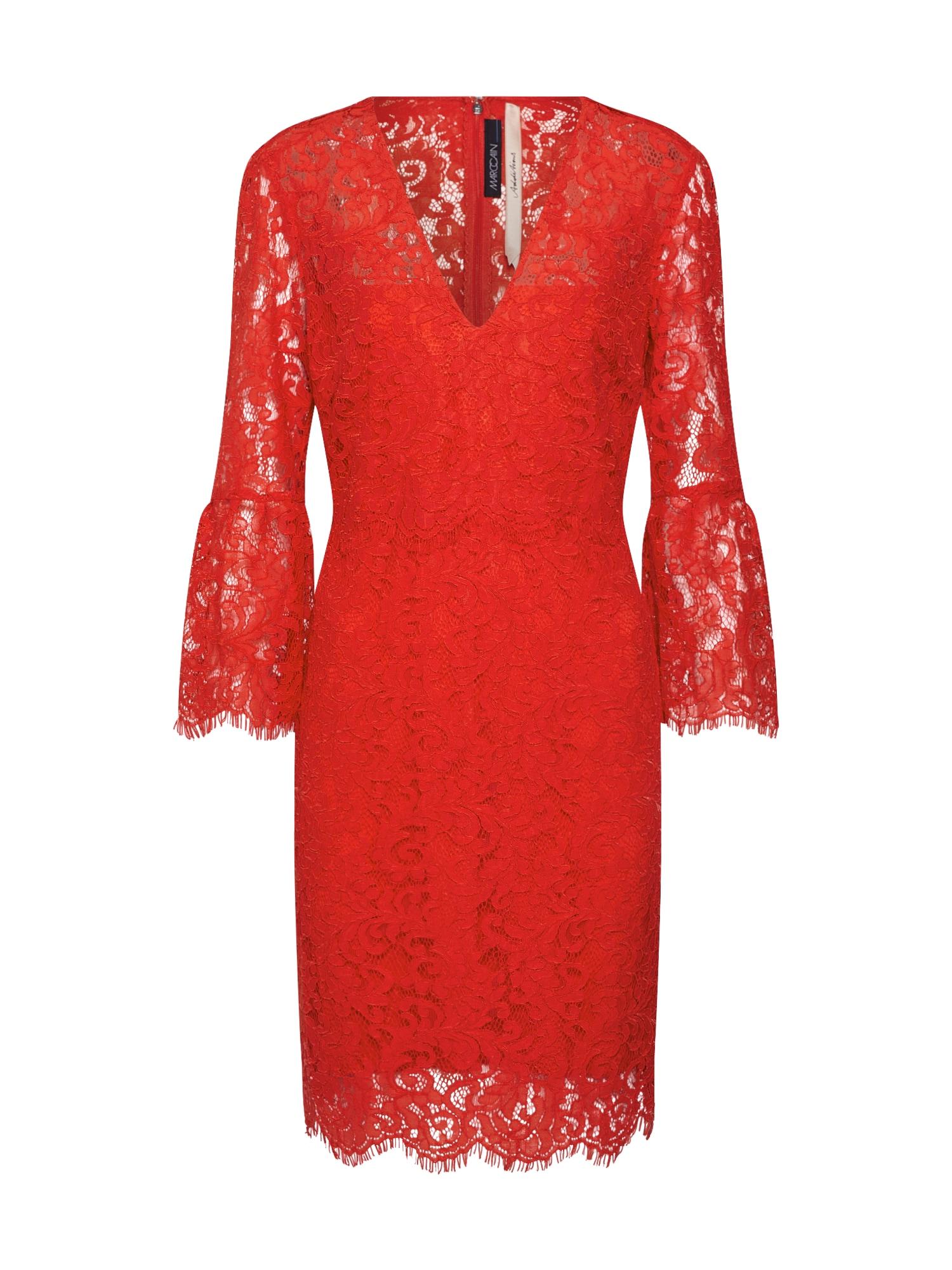 Koktejlové šaty červená Marc Cain