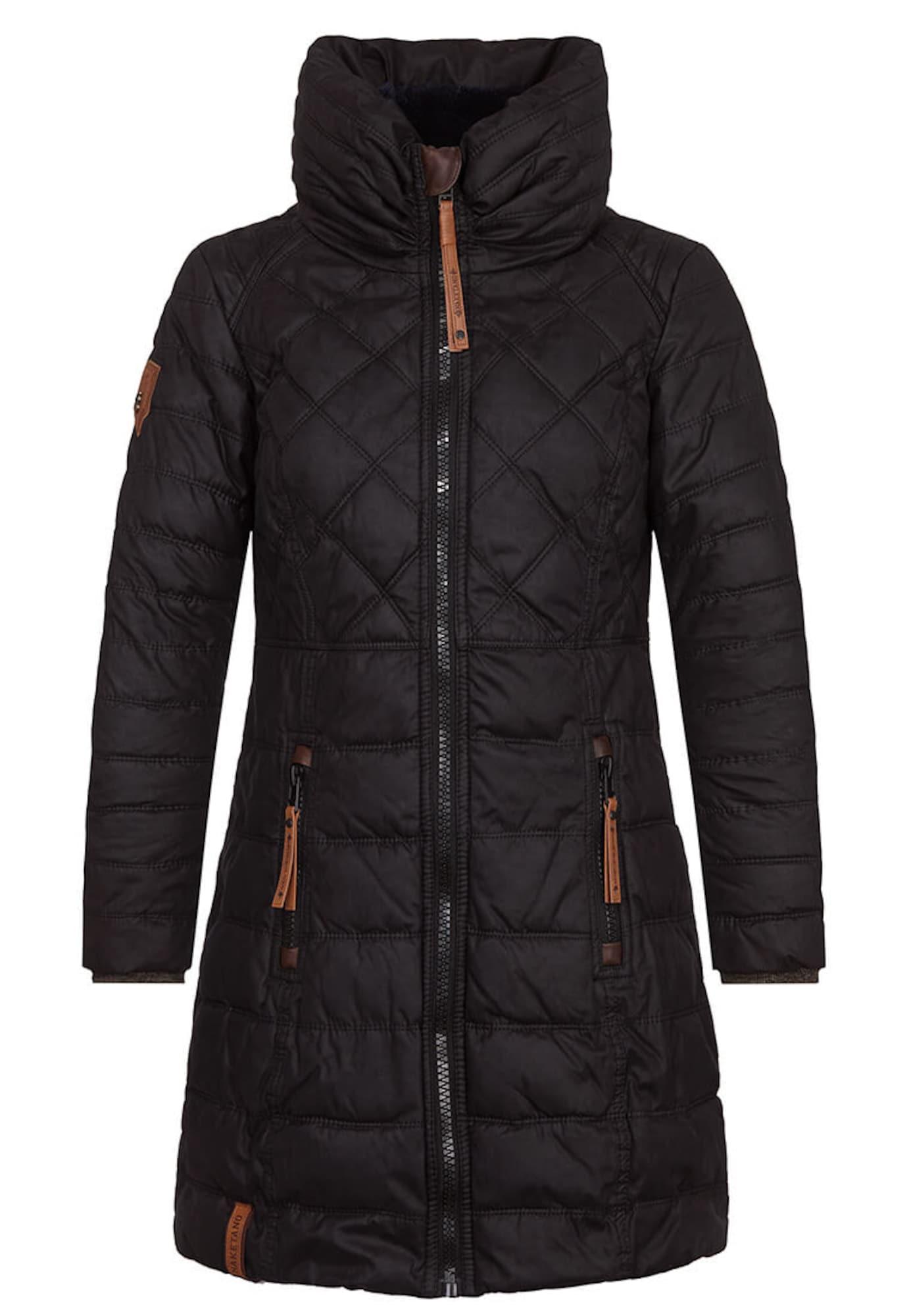 Zimní kabát hnědá černá Naketano