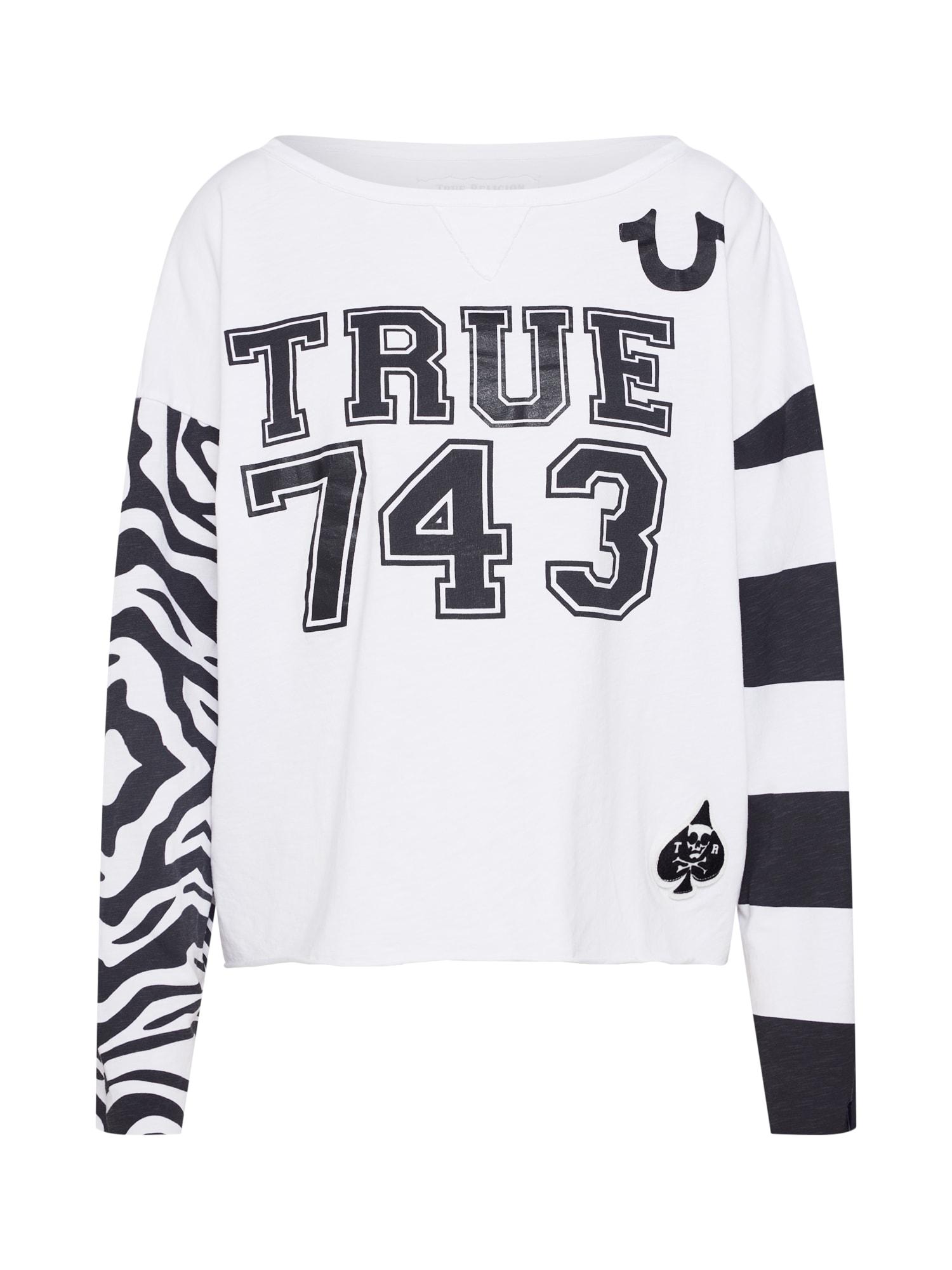 Tričko LS ZEBRA TRUE 743 bílá True Religion