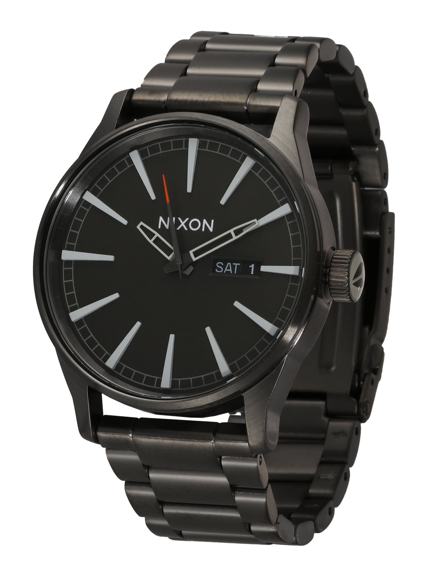 Analogové hodinky Sentry SS grafitová Nixon