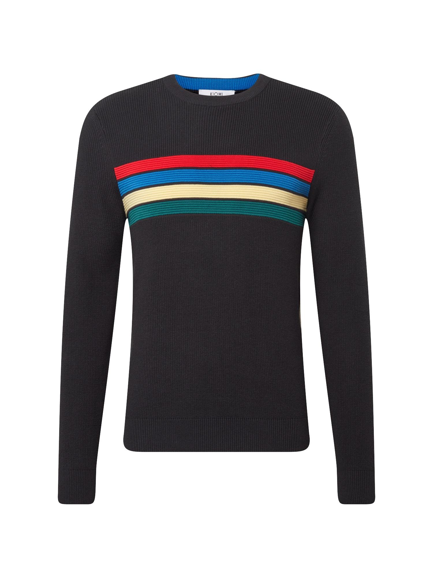 Svetr Rainbow Stripe Jumper tmavě modrá mix barev KIOMI