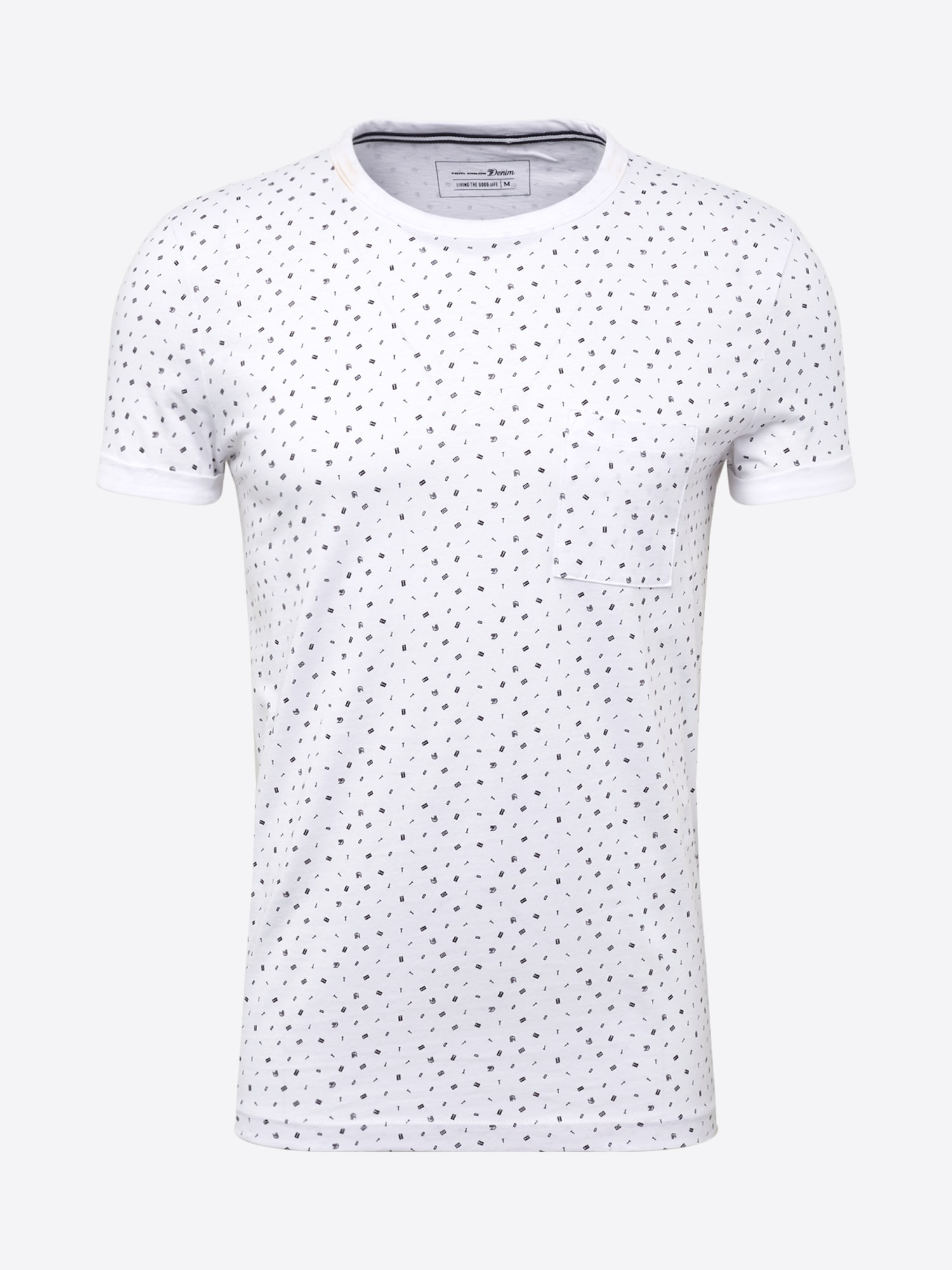Shirt 'T-shirt with alloverprint T-Shirt 1/2'